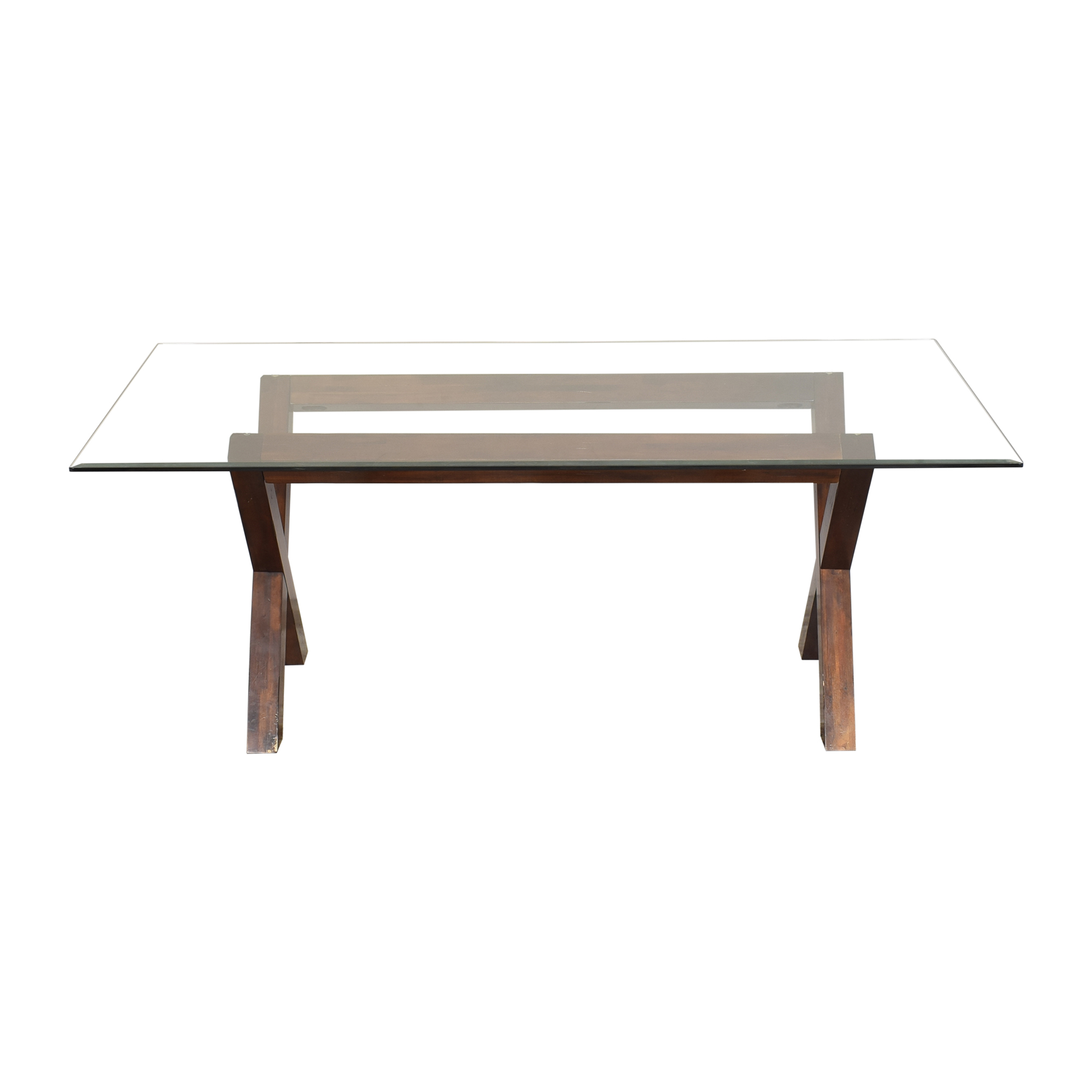shop Dining Table with Transparent Surface