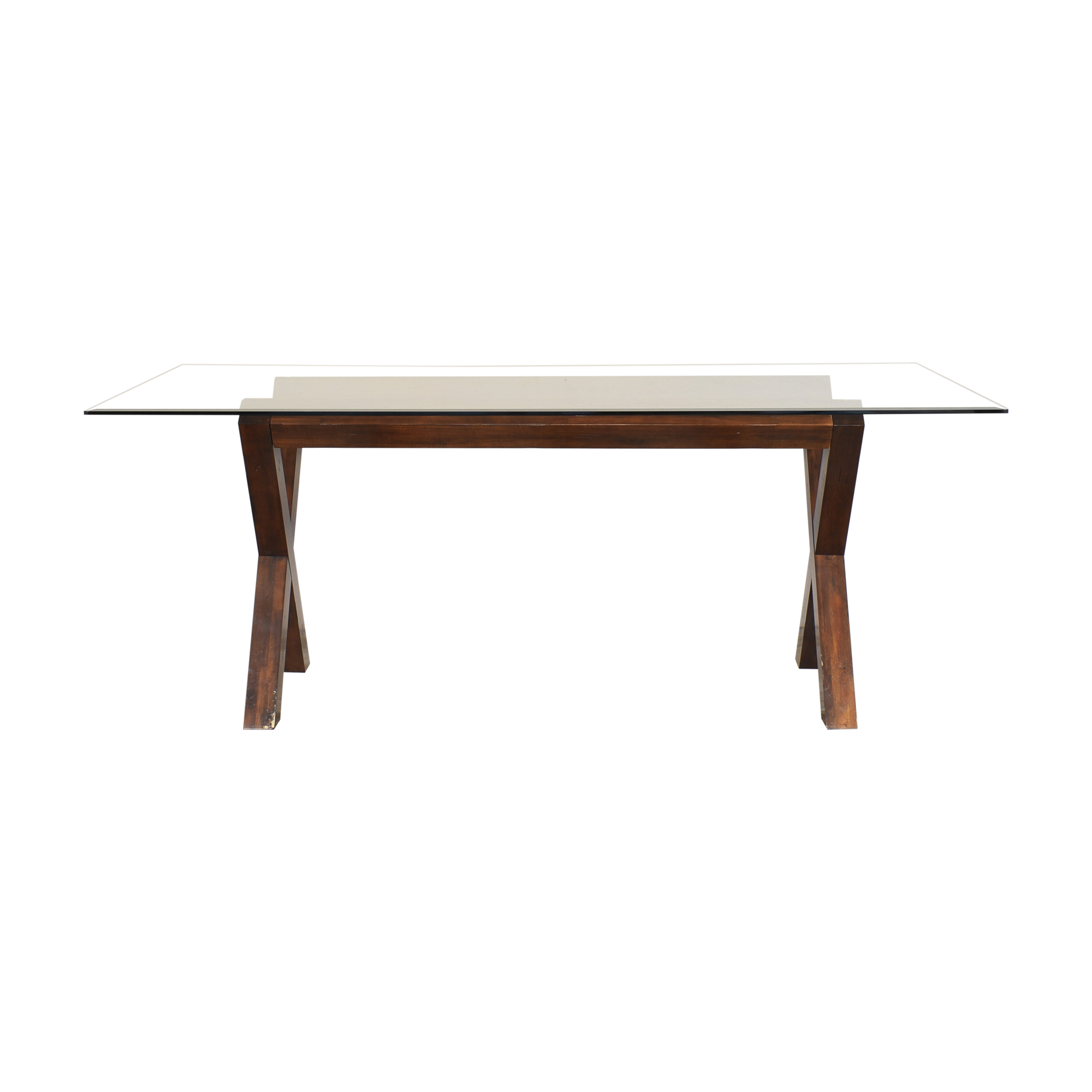 Dining Table with Transparent Surface on sale