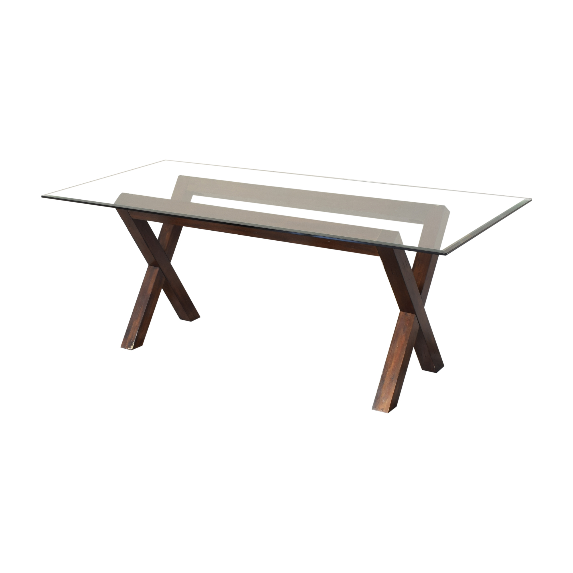 Dining Table with Transparent Surface second hand
