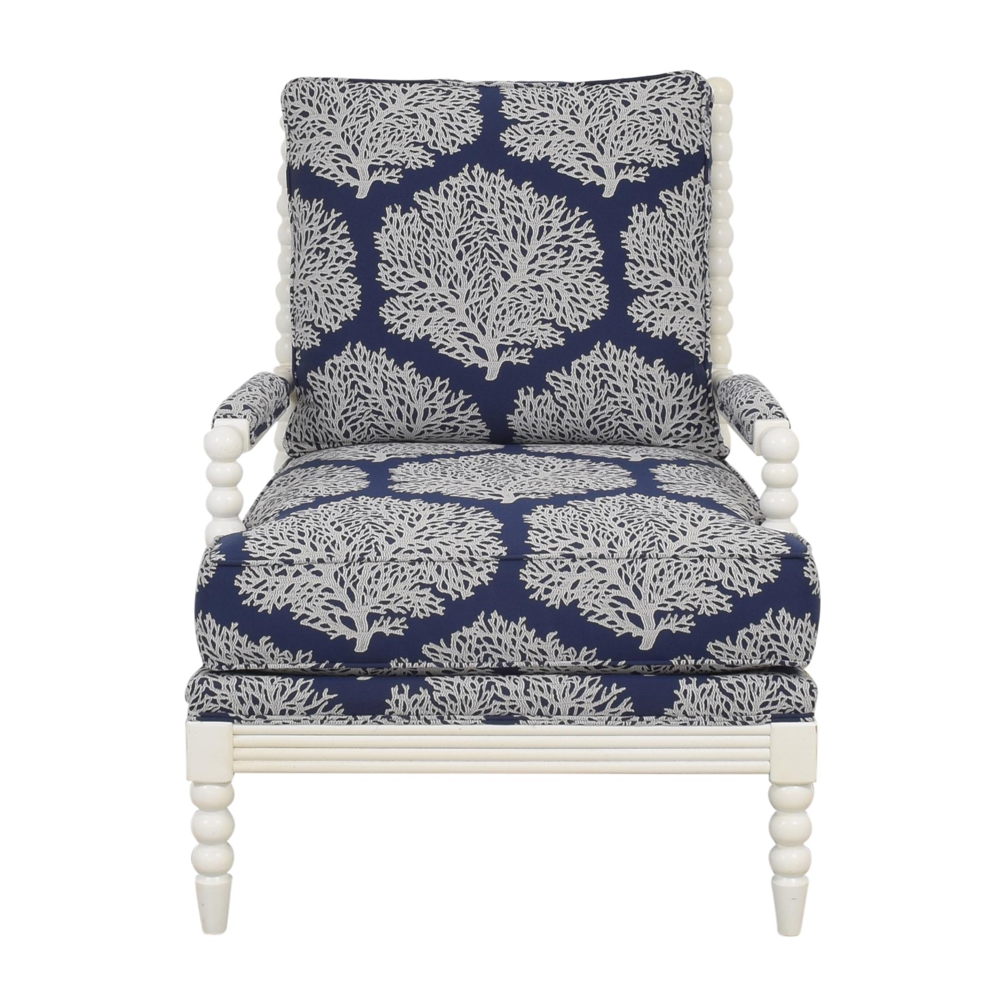 Ethan Allen Ethan Allen Custom Brandt Chair blue and white