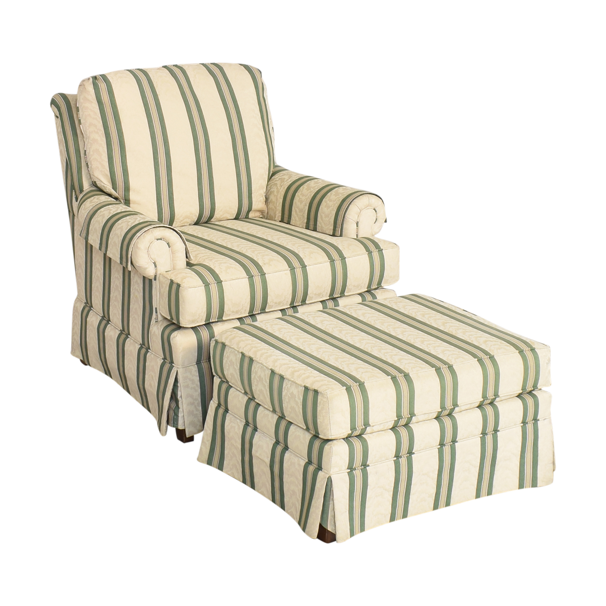 Pembrook Chair Upholstered Accent Chair and Ottoman / Chairs