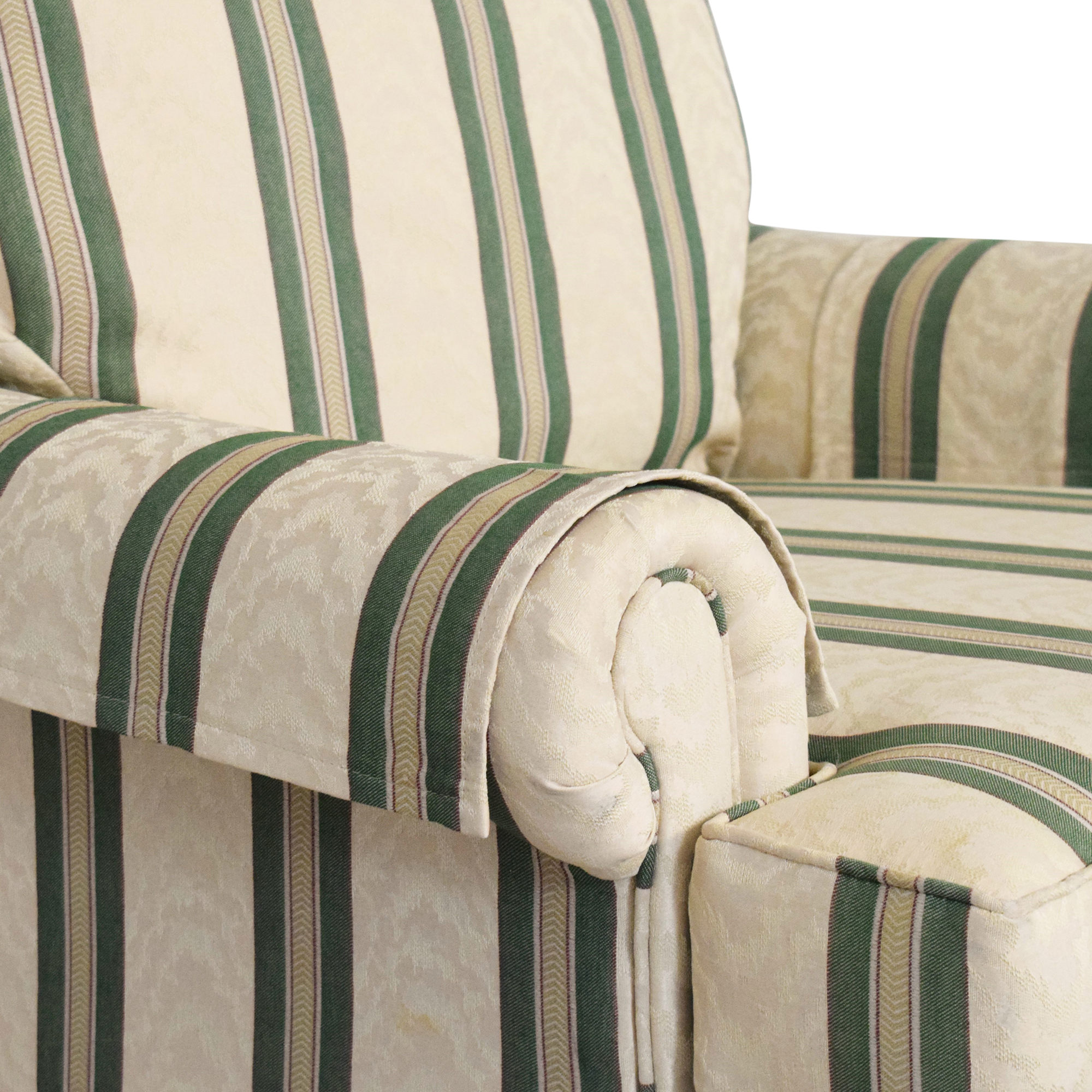 buy Pembrook Chair Upholstered Accent Chair and Ottoman Pembrook Chair