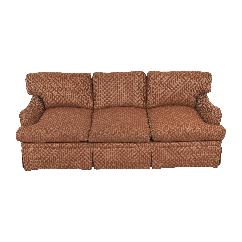 buy Three Cushion Skirted Sofa with Pillows