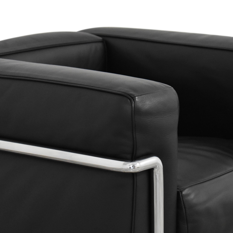 Cassina Cassina Le Corbusier LC2 Poltrona Armchair  black and silver