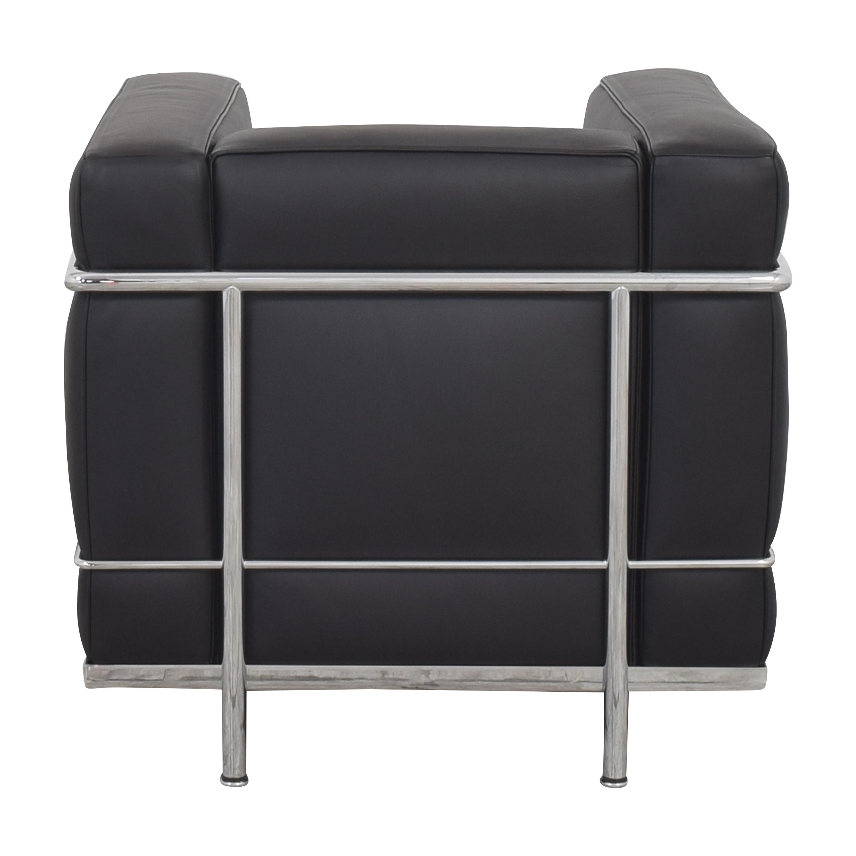 shop Cassina Le Corbusier LC2 Poltrona Armchair  Cassina Chairs