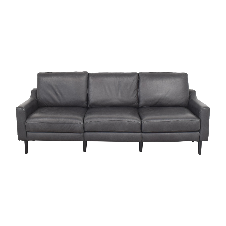 Burrow Burrow Slope Nomad Three Cushion Sofa with Ottoman nj