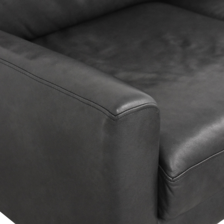 Burrow Burrow Slope Nomad Three Cushion Sofa with Ottoman dimensions
