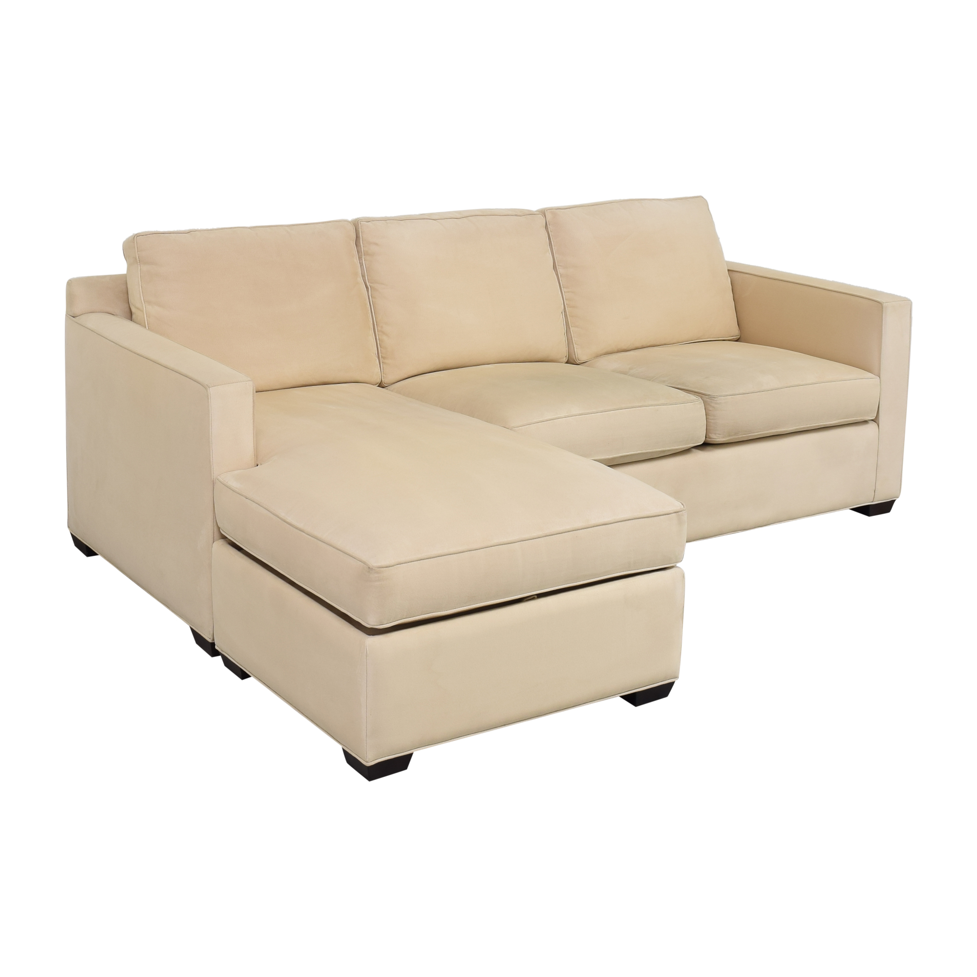 Crate & Barrel Crate and Barrel Chaise Sectional Sofa second hand