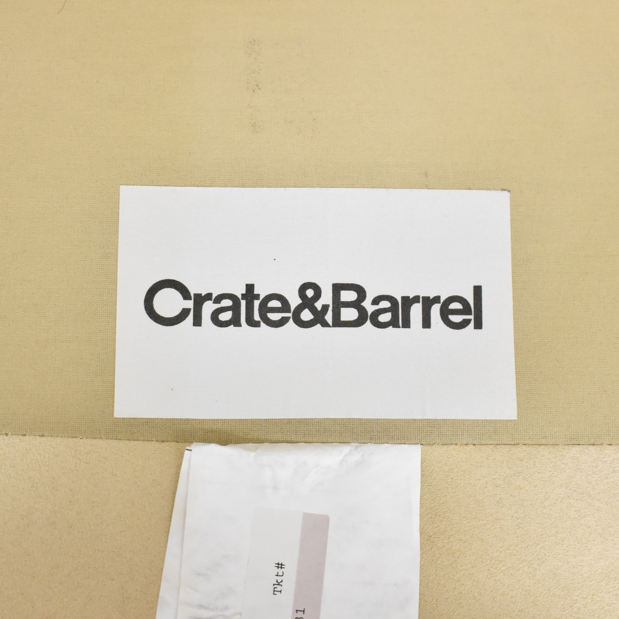 Crate and Barrel Chaise Sectional Sofa sale