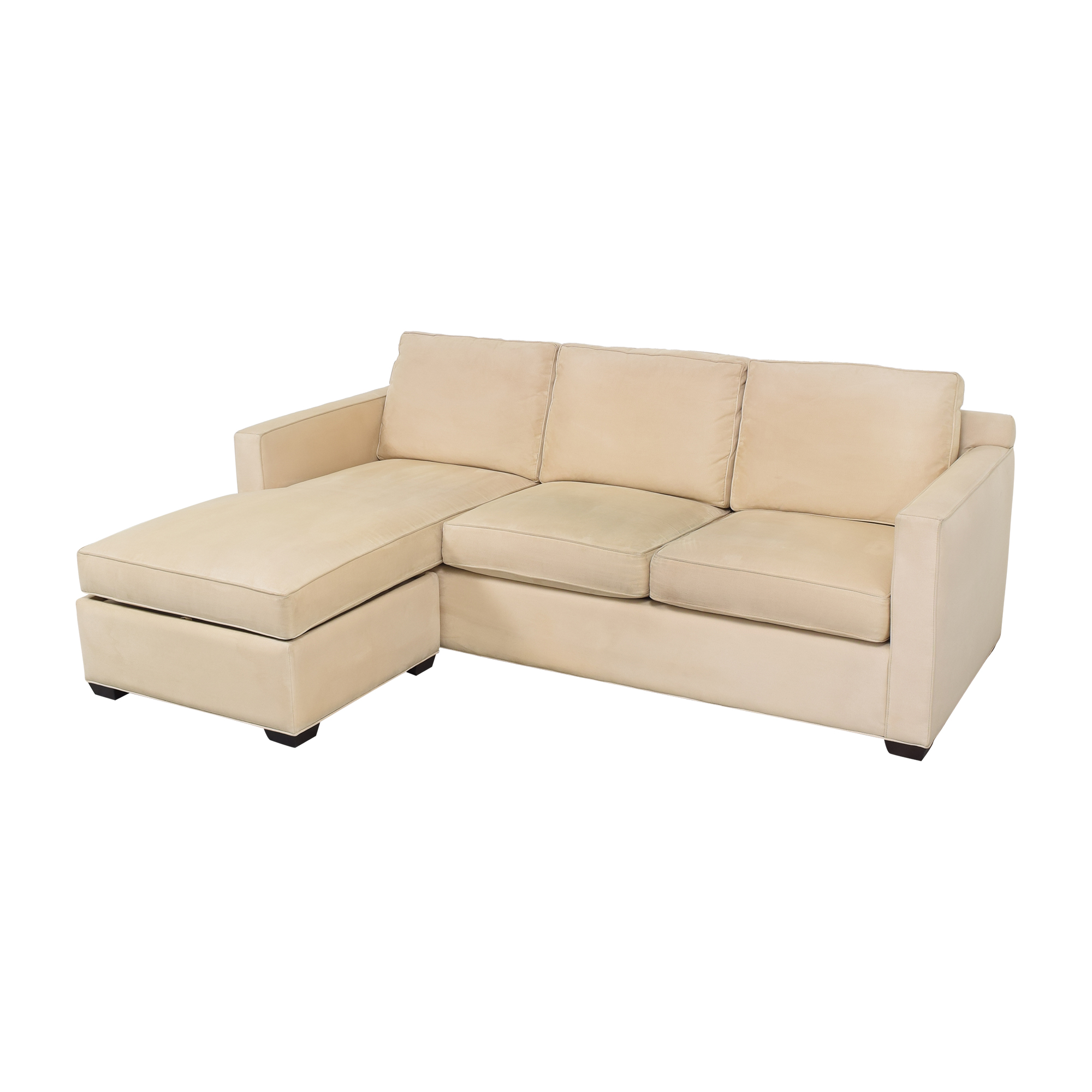 Crate and Barrel Chaise Sectional Sofa Crate & Barrel