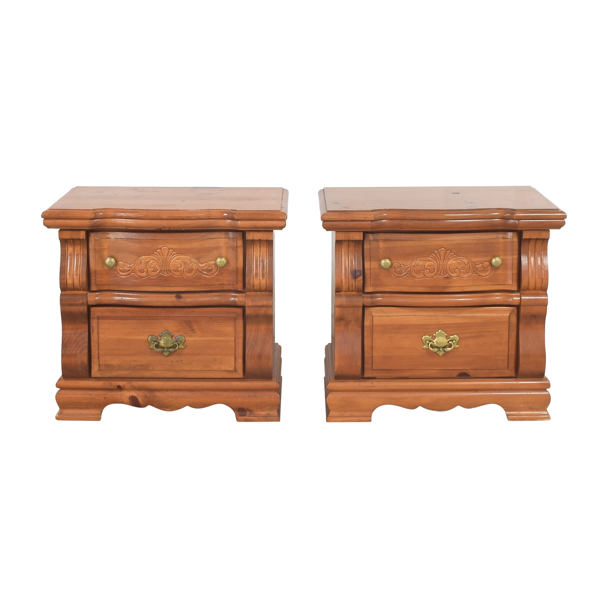 Vaughan-Bassett Vaughan-Bassett Two Drawer Nightstands nyc