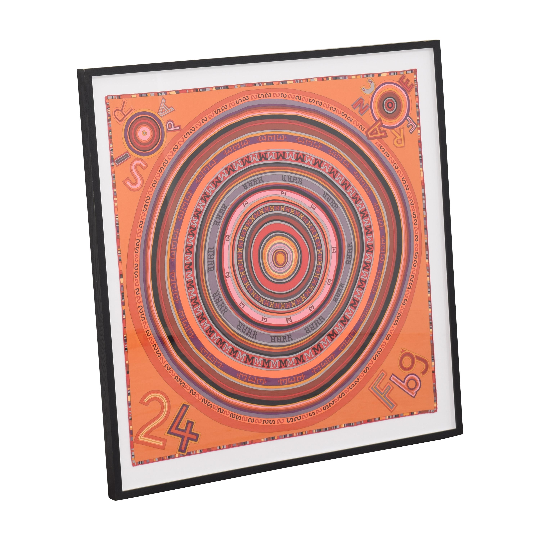 Hermes Framed Scarf used