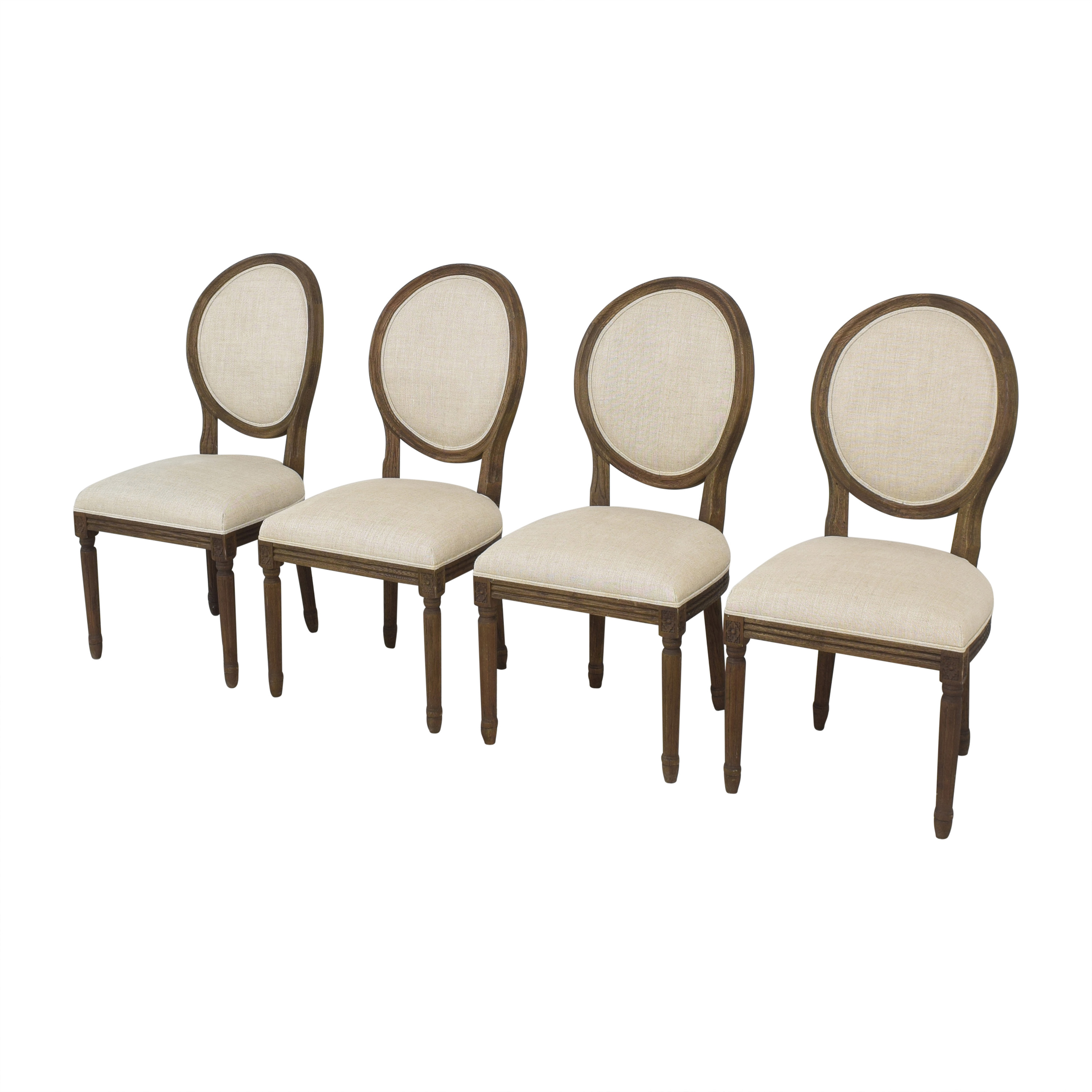 Restoration Hardware Restoration Hardware Vintage French Round Dining Side Chairs discount