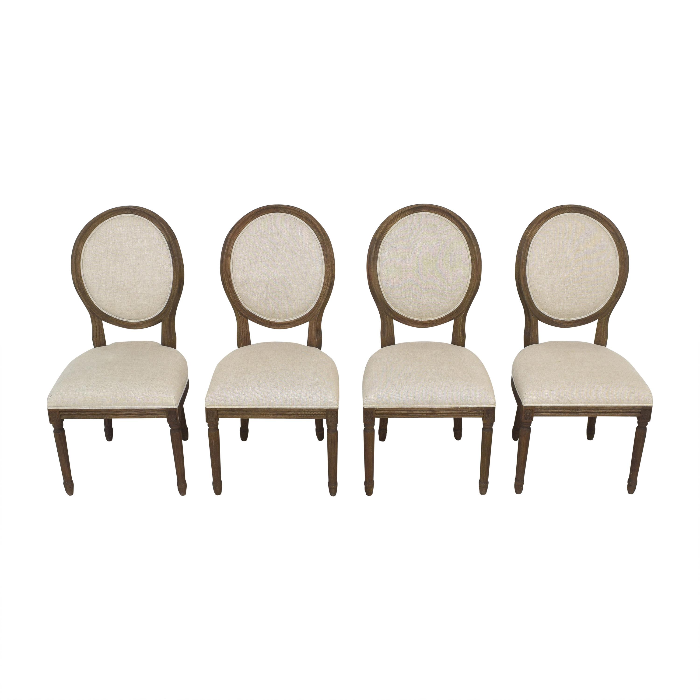 shop Restoration Hardware Vintage French Round Dining Side Chairs Restoration Hardware Dining Chairs