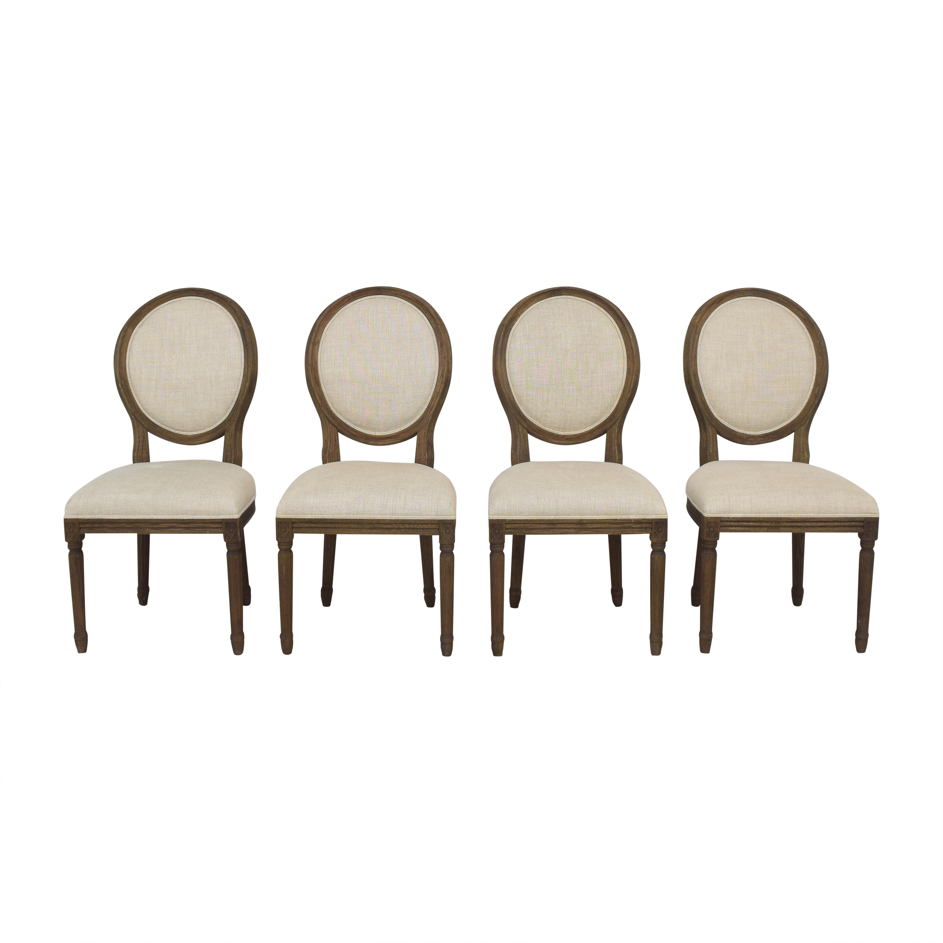 Restoration Hardware Restoration Hardware Vintage French Round Dining Side Chairs coupon