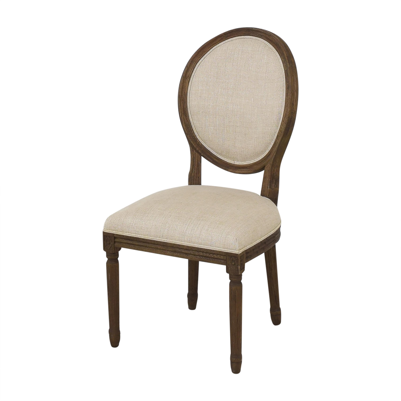 buy Restoration Hardware Vintage French Round Dining Side Chairs Restoration Hardware Dining Chairs