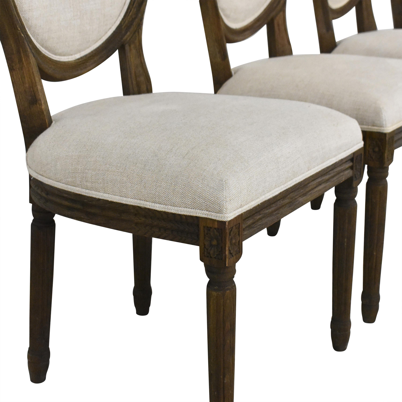 buy Restoration Hardware Vintage French Round Dining Side Chairs Restoration Hardware Chairs