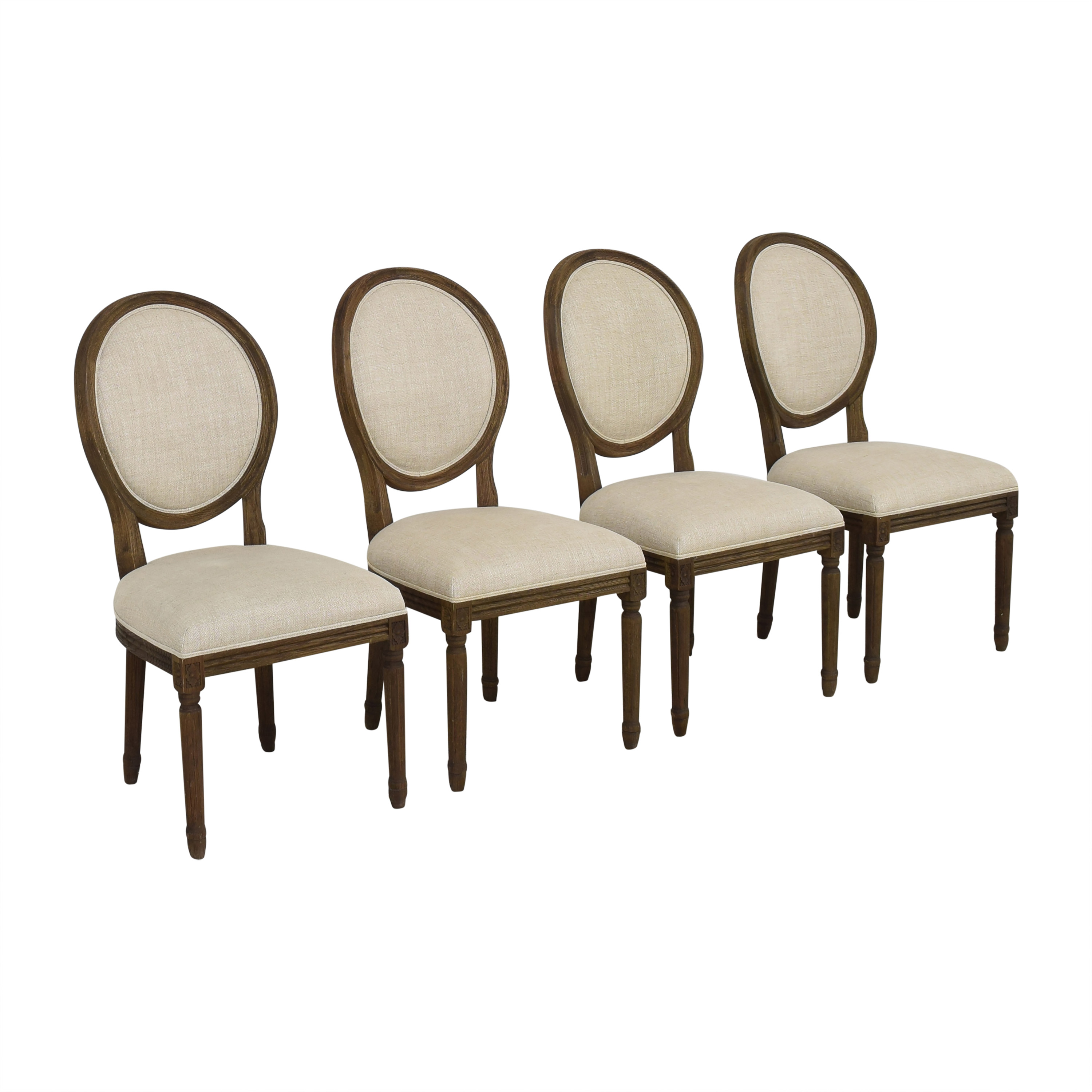 Restoration Hardware Restoration Hardware Vintage French Round Dining Side Chairs nyc