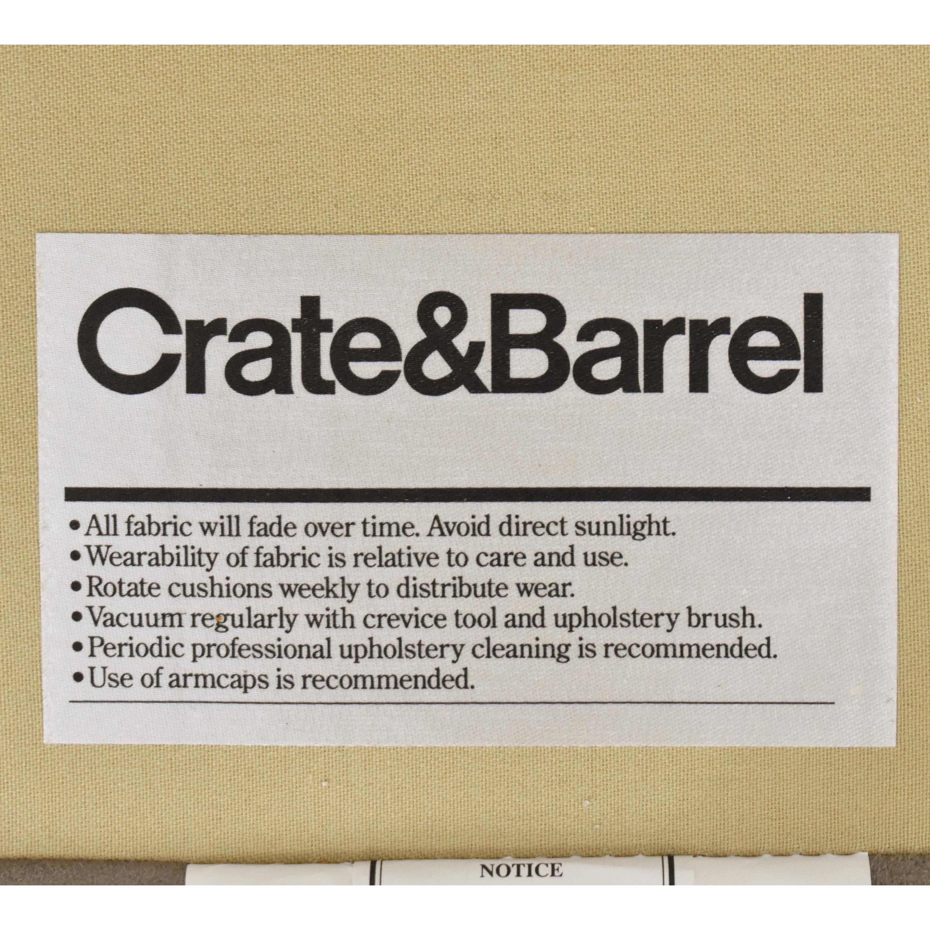 Crate & Barrel Crate & Barrel Axis II Three Seat Sofa ct