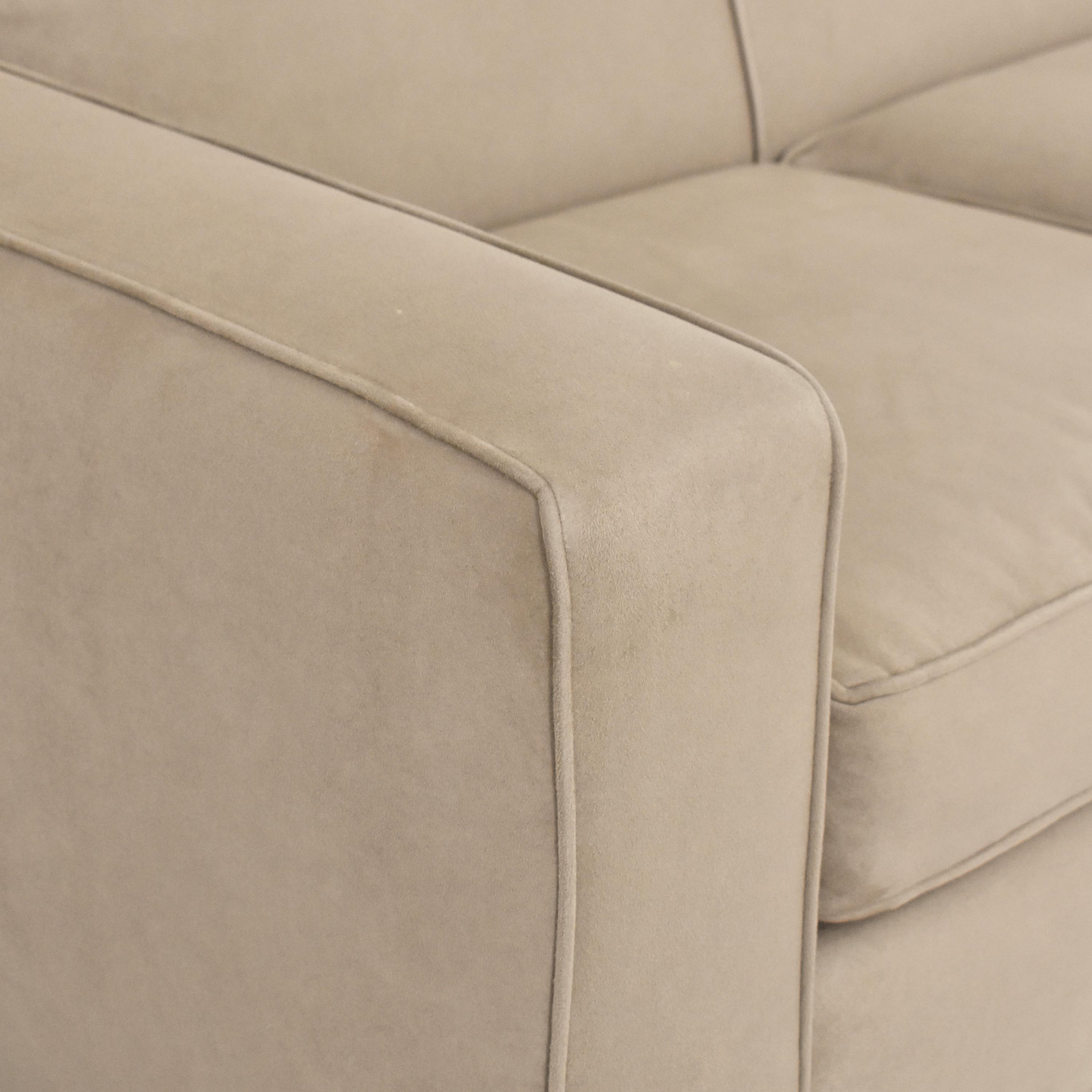 Crate & Barrel Crate & Barrel Axis II Three Seat Sofa tan