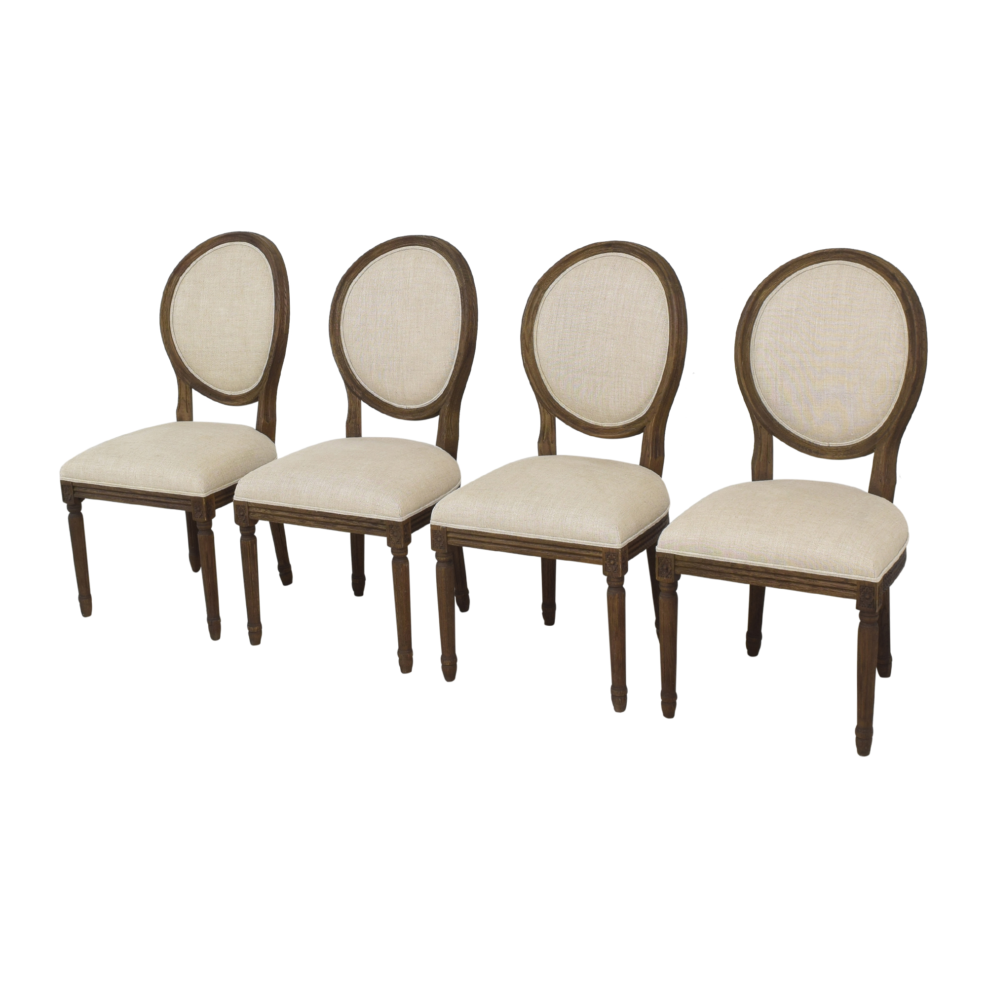 Restoration Hardware Restoration Hardware Vintage French Round Dining Side Chairs second hand
