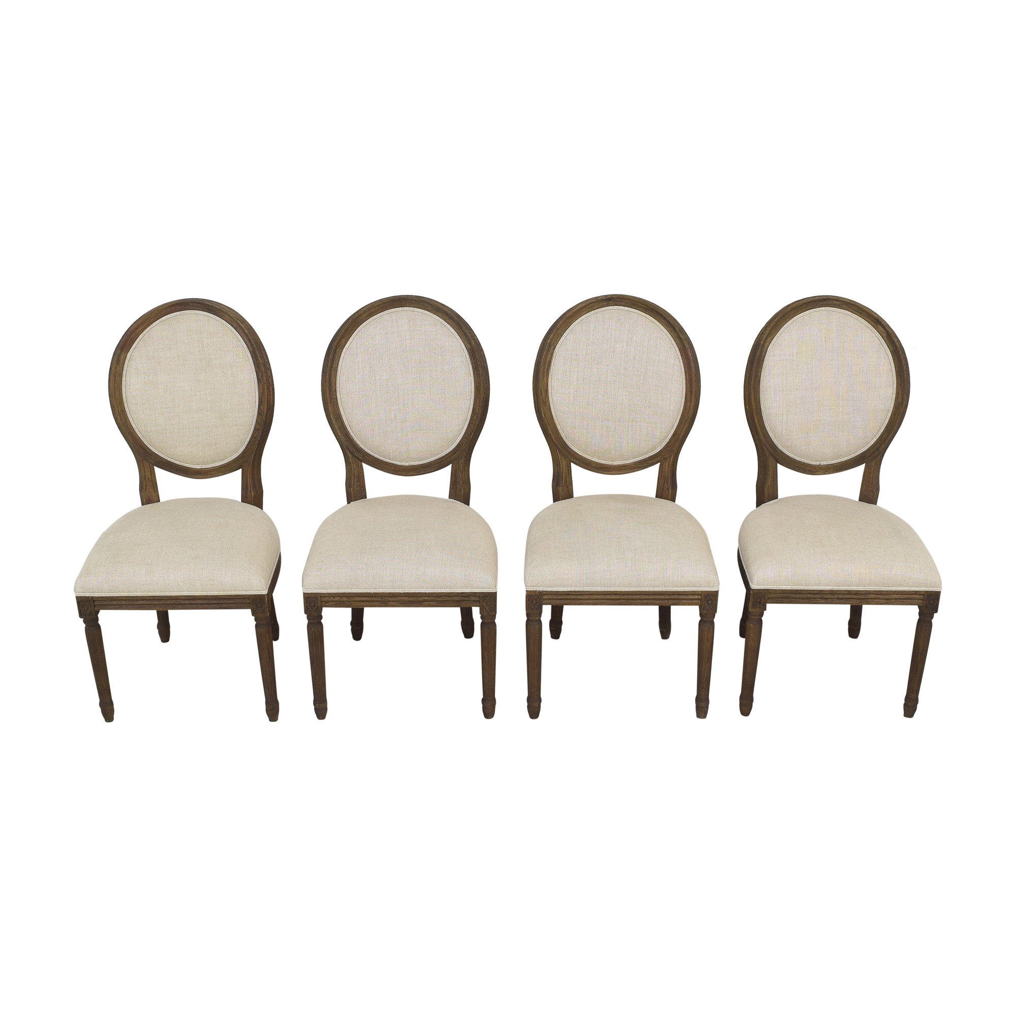 Restoration Hardware Vintage French Round Dining Side Chairs / Dining Chairs