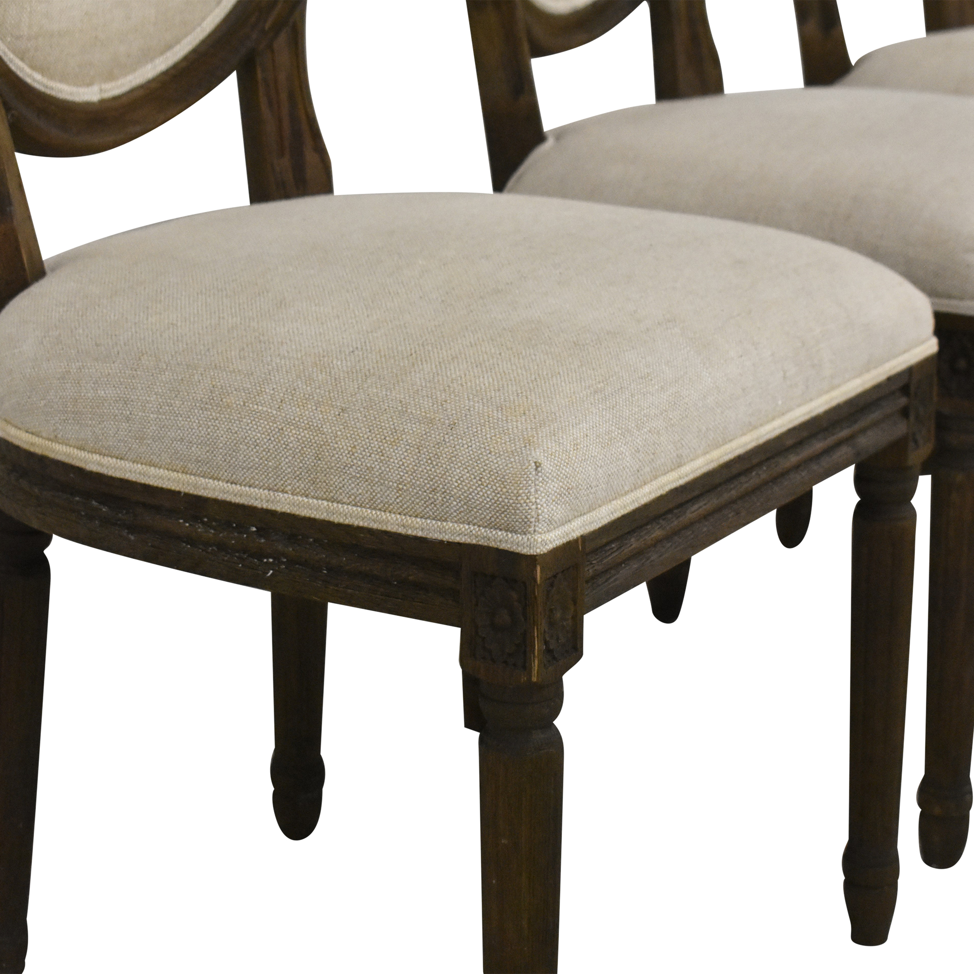 Restoration Hardware Restoration Hardware Vintage French Round Dining Side Chairs ma