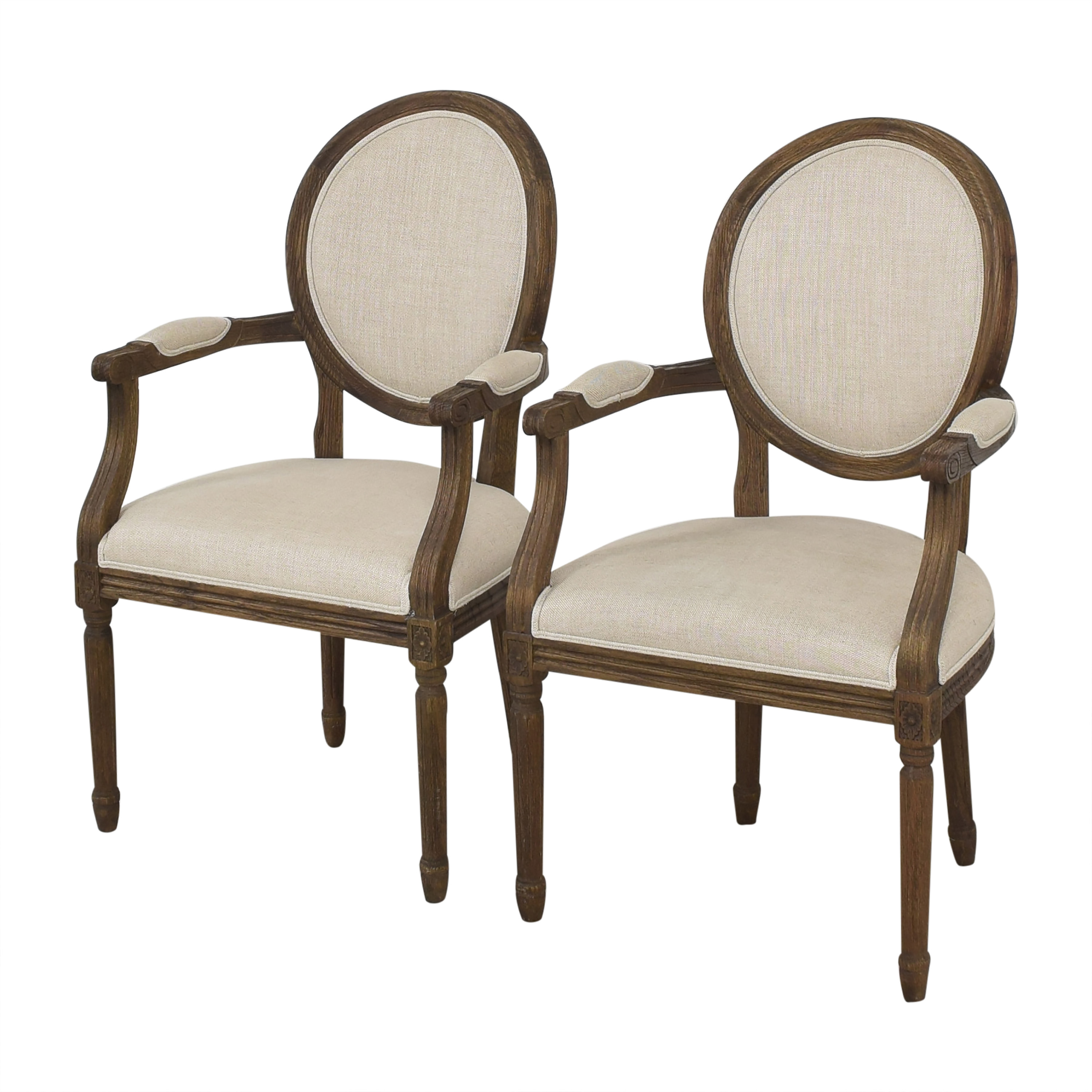 shop Restoration Hardware Restoration Hardware Vintage French Round Dining Arm Chairs online