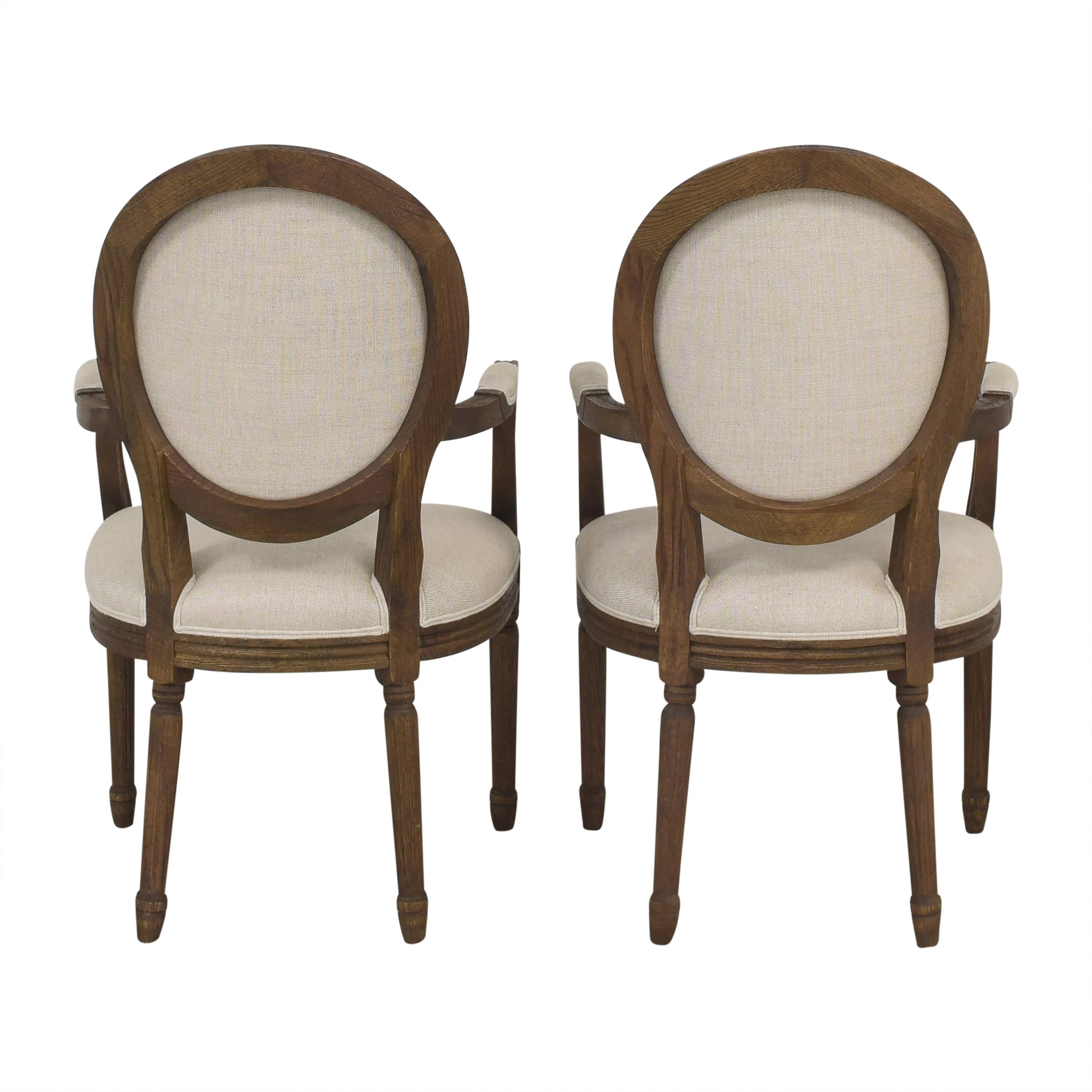 Restoration Hardware Restoration Hardware Vintage French Round Dining Arm Chairs on sale