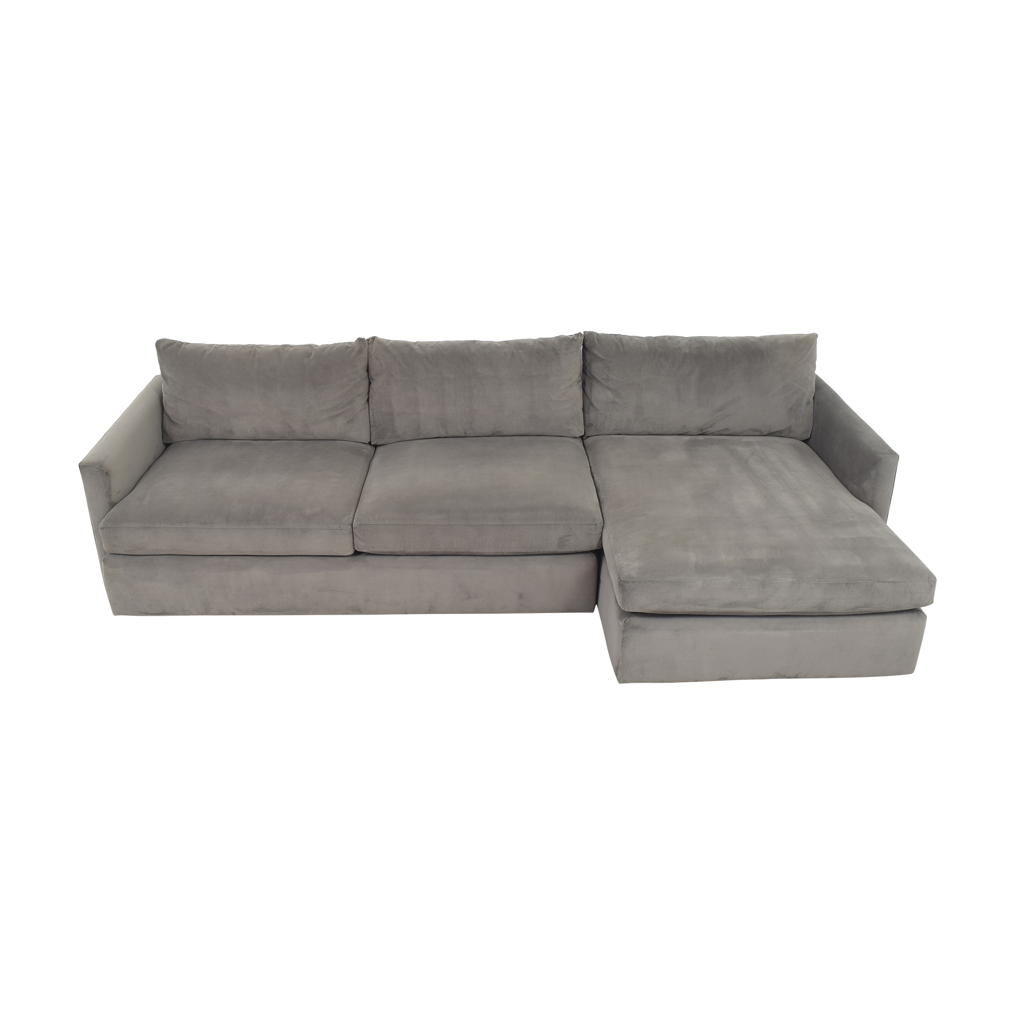buy Crate & Barrel Lounge II Chaise Sectional Sofa Crate & Barrel Sofas