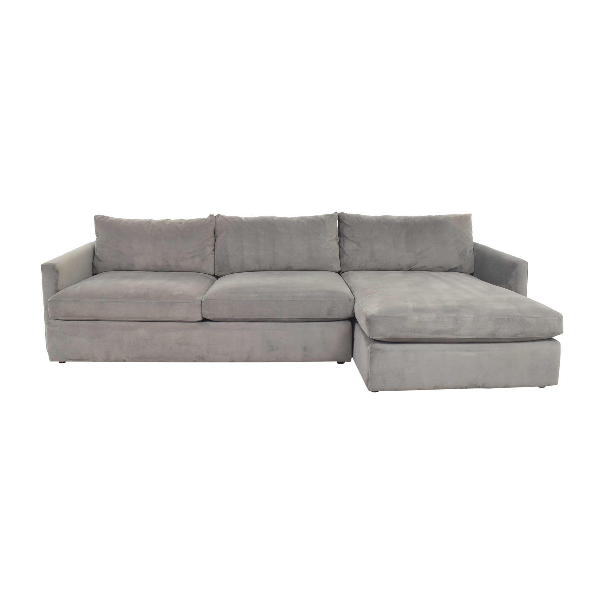 Crate & Barrel Lounge II Chaise Sectional Sofa sale
