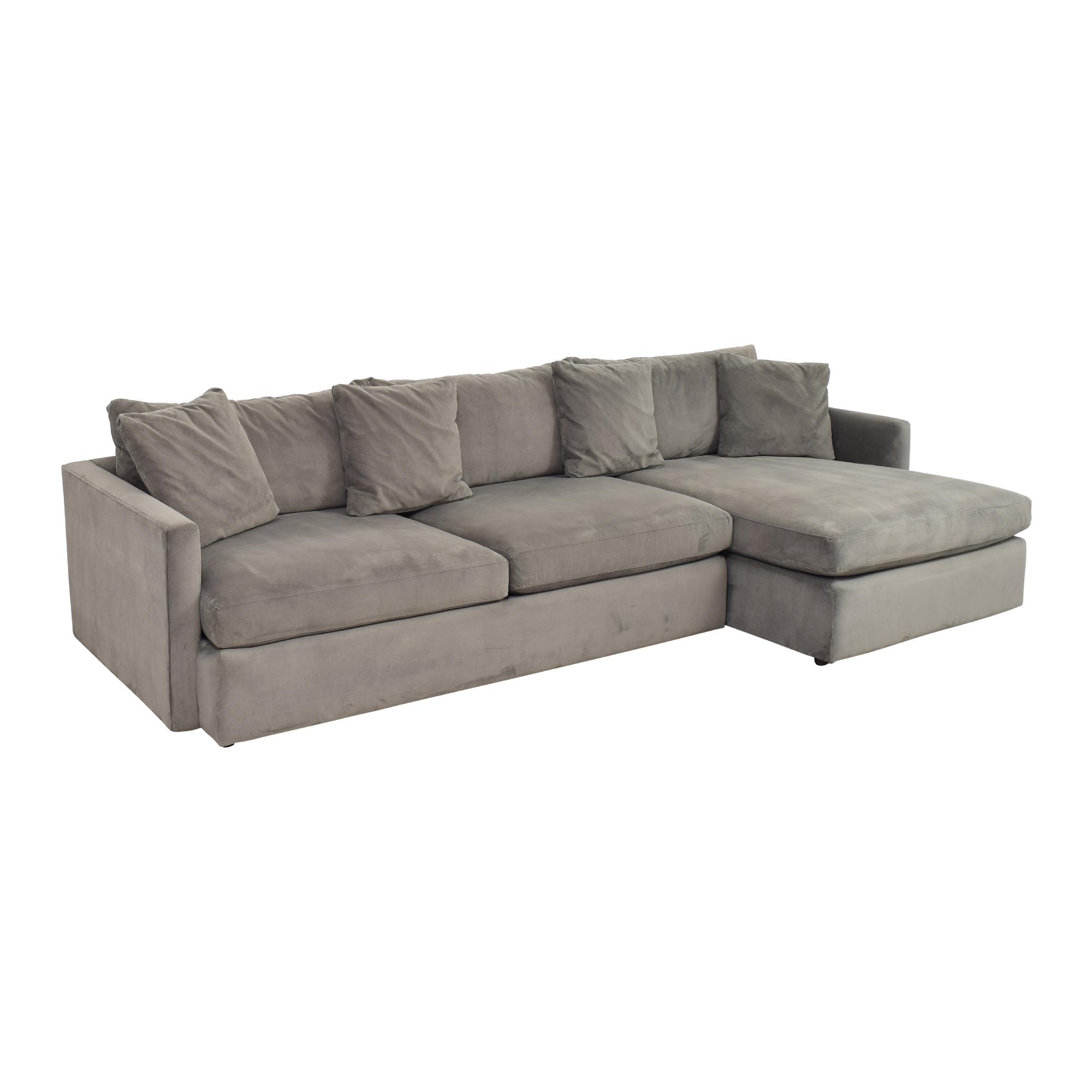 shop Crate & Barrel Lounge II Chaise Sectional Sofa Crate & Barrel