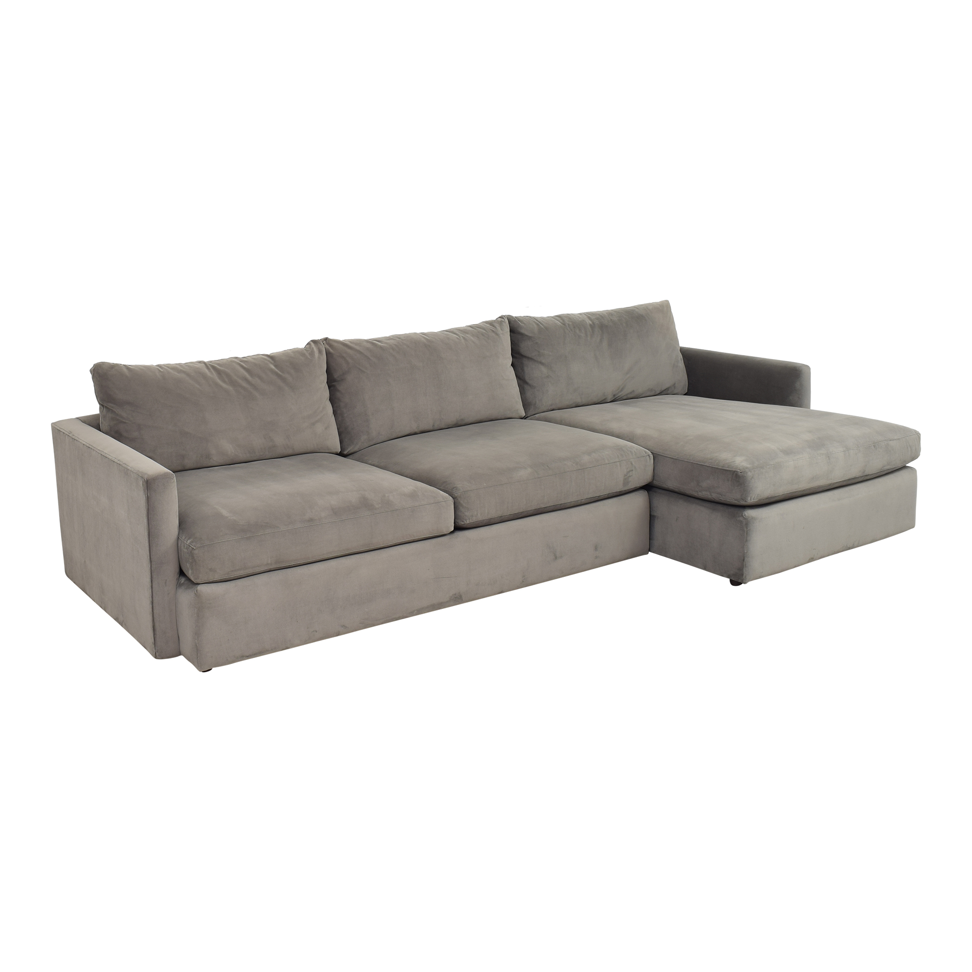 Crate & Barrel Lounge II Chaise Sectional Sofa / Sectionals