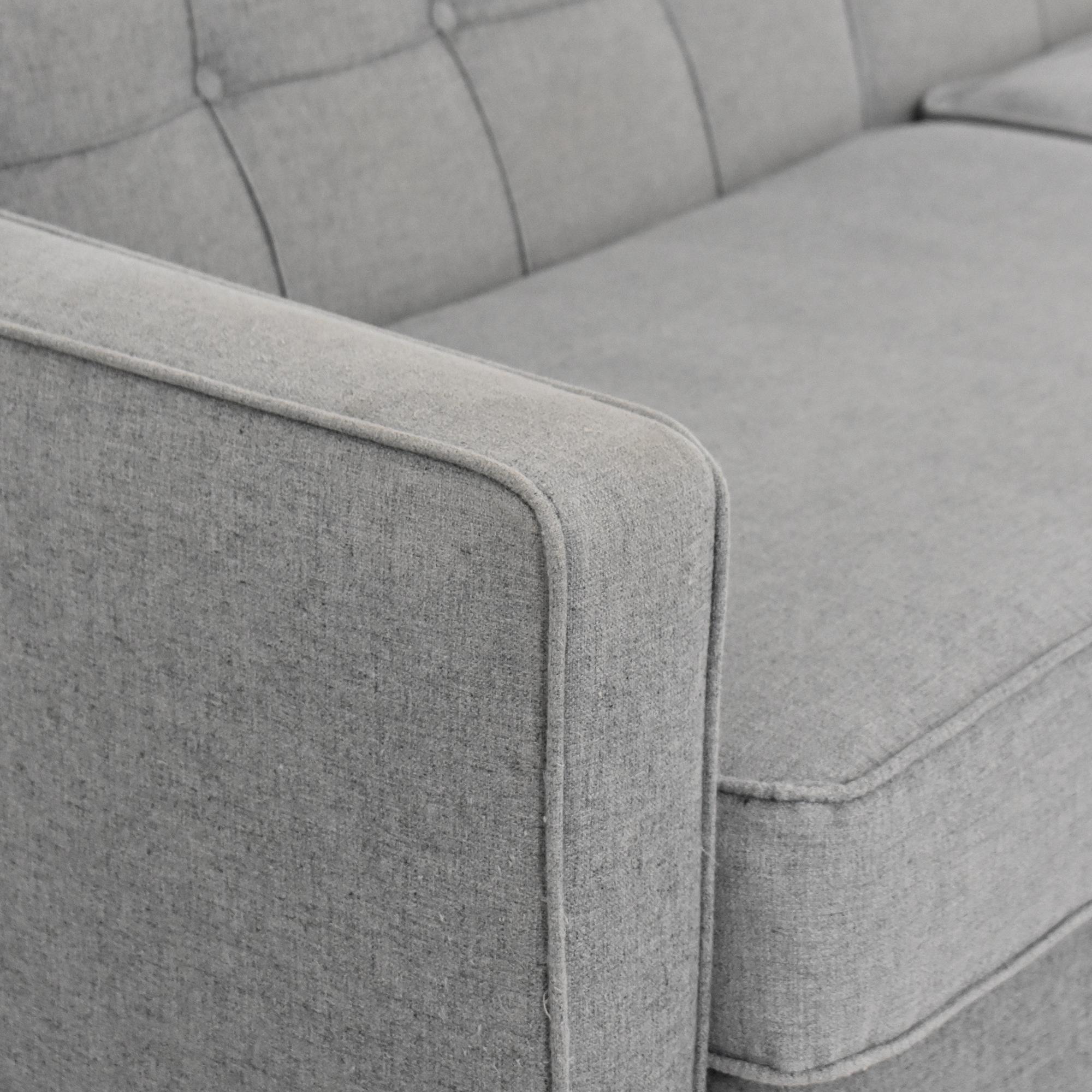 G. Romano G. Romano Tufted Two Cushion Sofa nyc