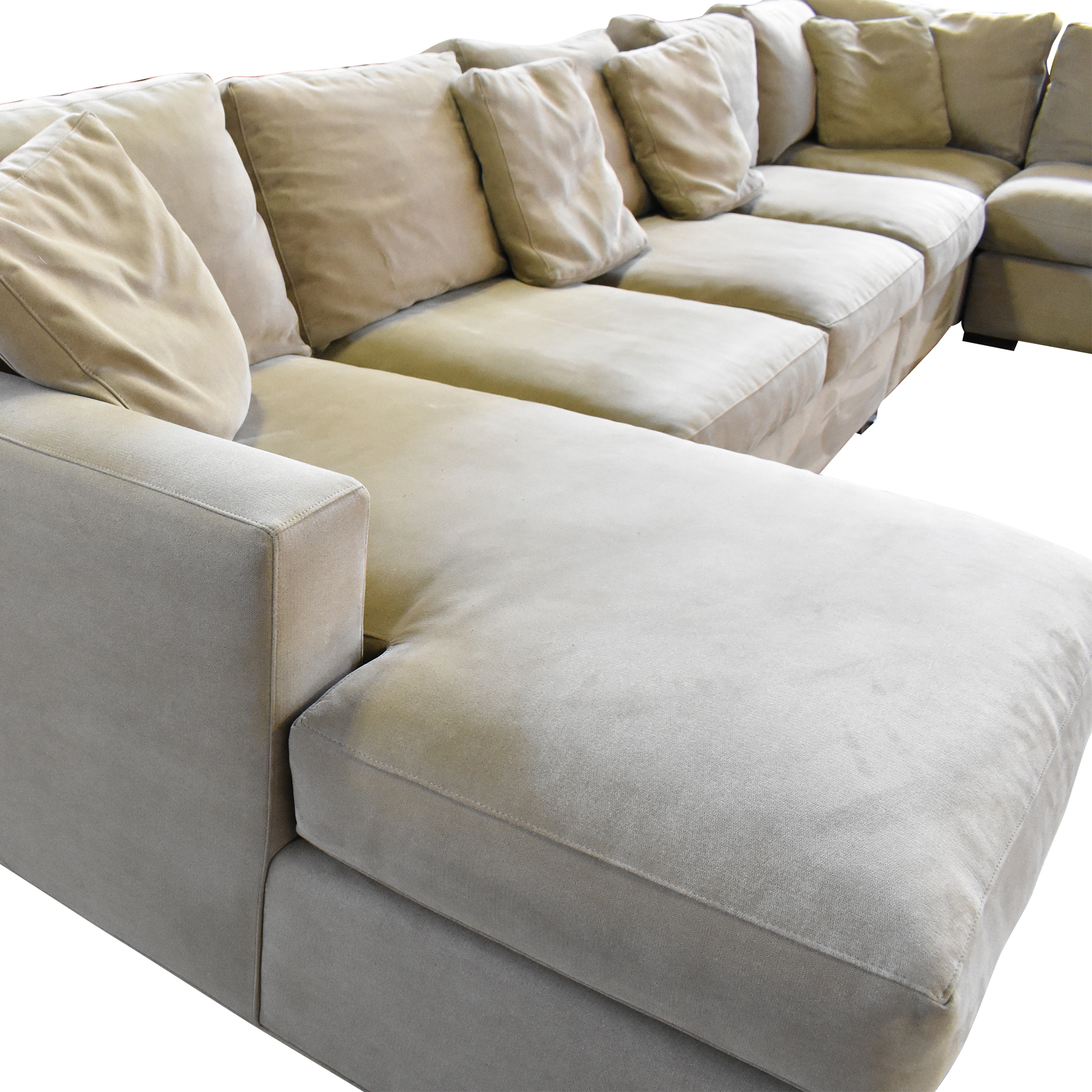 Crate & Barrel Axis Sectional Sofa with Chaise / Sofas