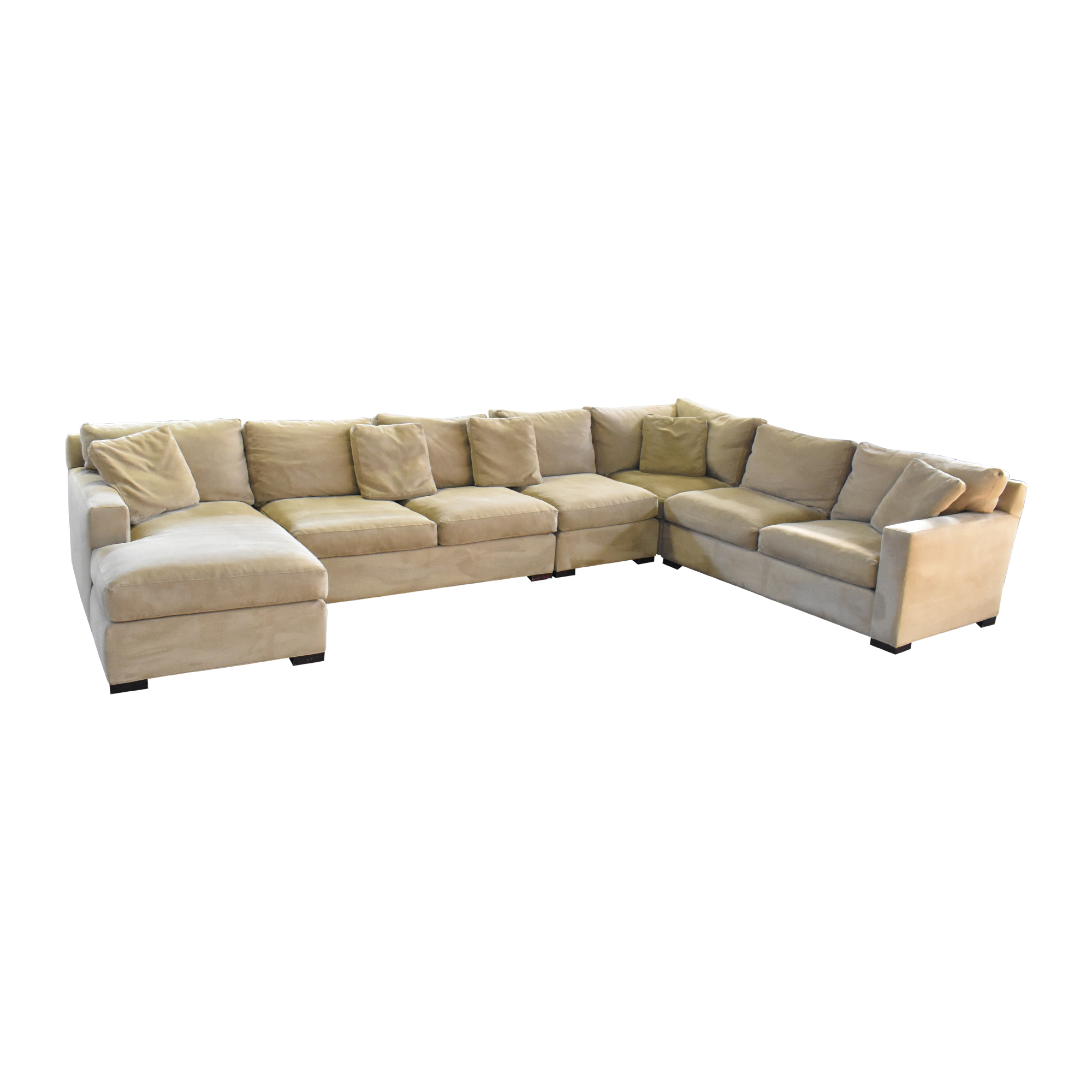 shop Crate & Barrel Axis Sectional Sofa with Chaise Crate & Barrel Sofas