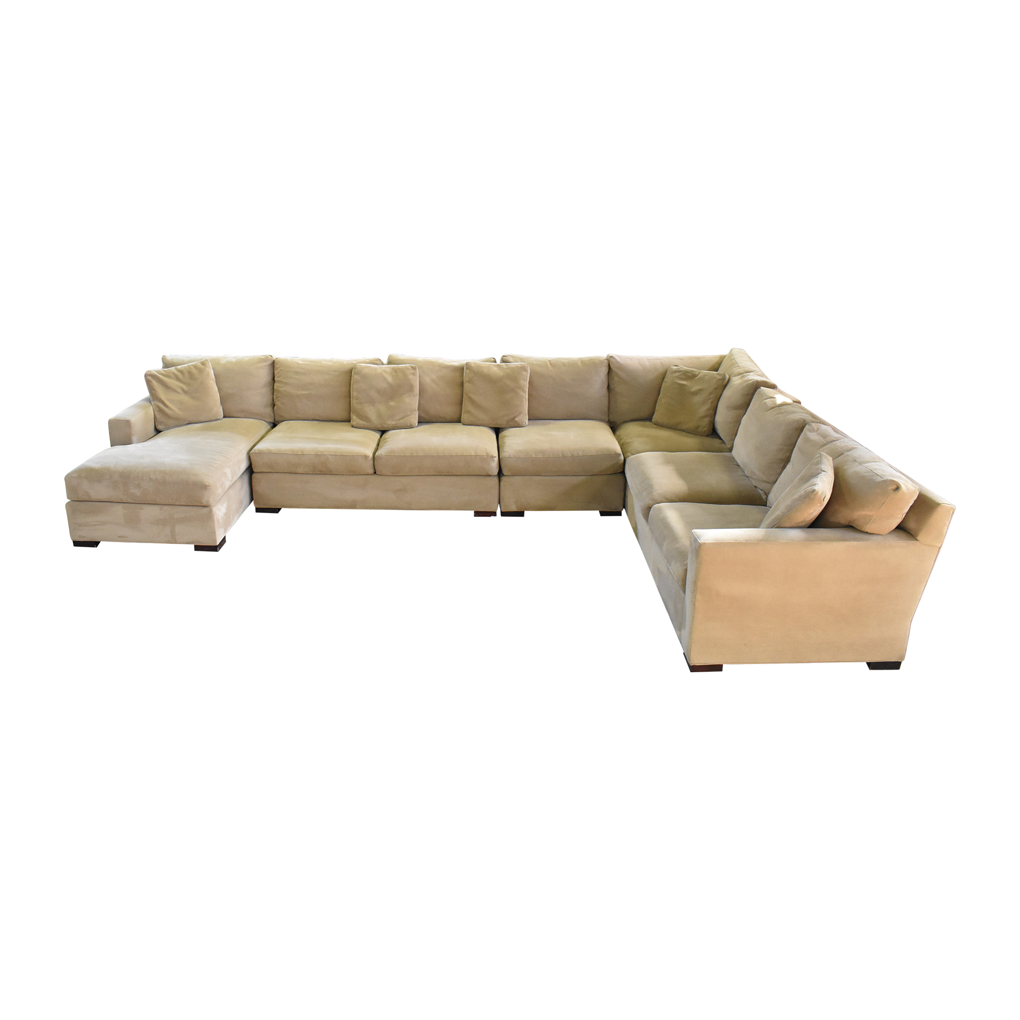 Crate & Barrel Crate & Barrel Axis Sectional Sofa with Chaise beige