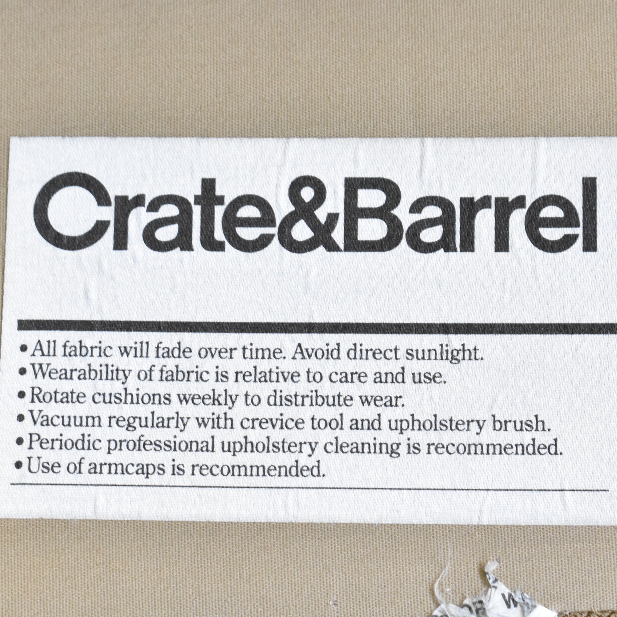 Crate & Barrel Crate & Barrel Axis Sectional Sofa with Chaise ct
