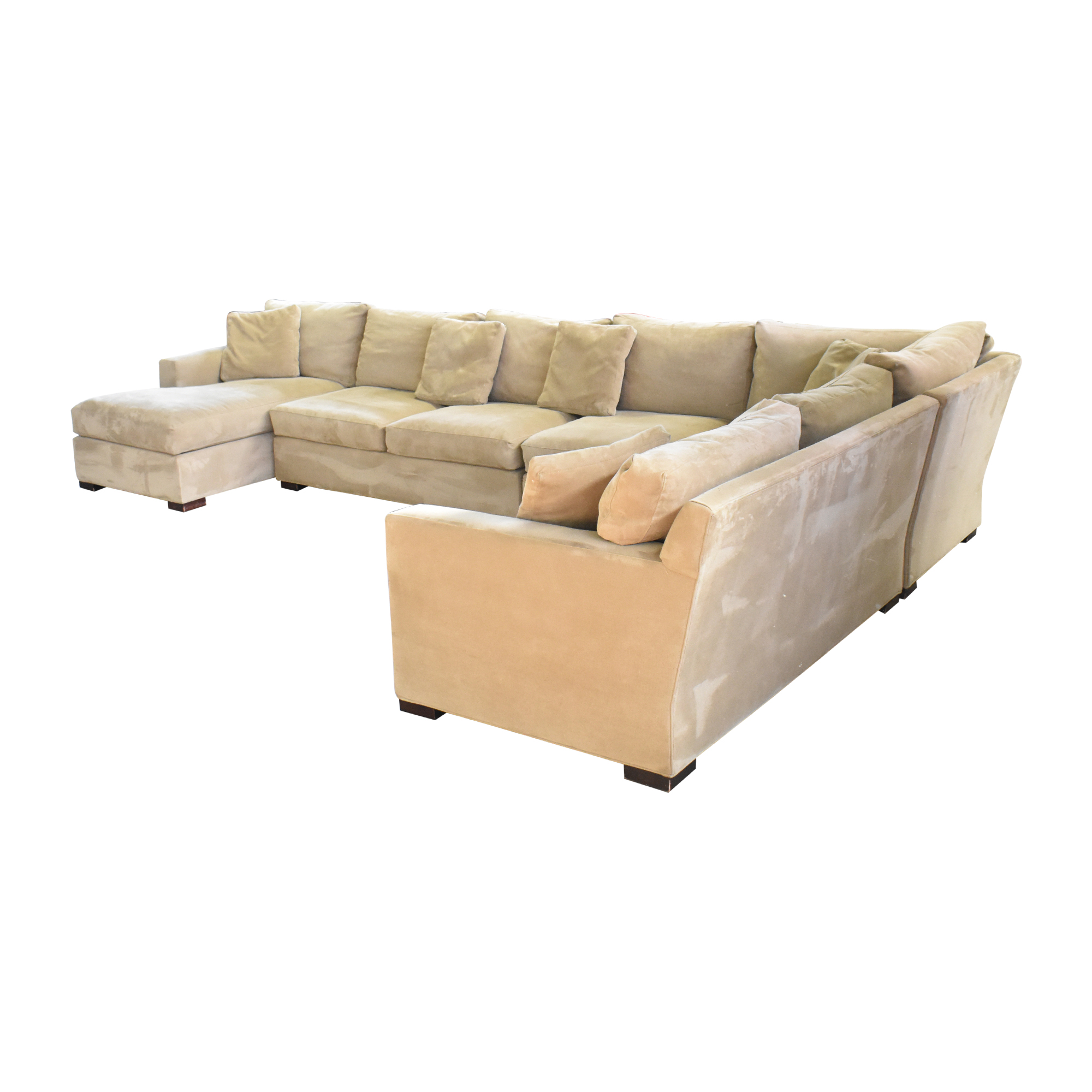 Crate & Barrel Crate & Barrel Axis Sectional Sofa with Chaise discount