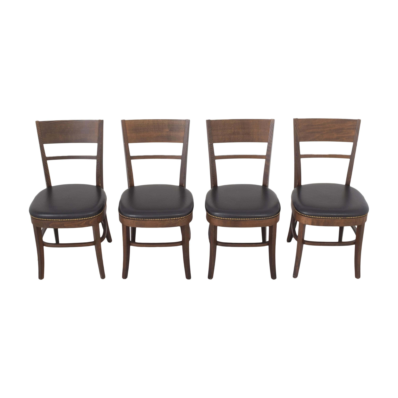 Pottery Barn Pottery Barn Nailhead Dining Chairs brown & black