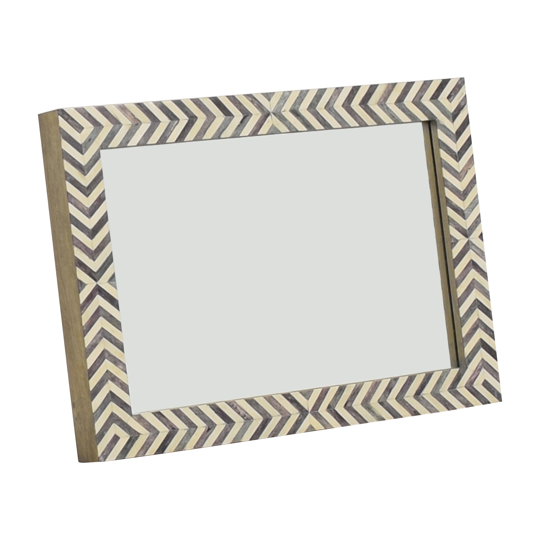 West Elm Parsons Herringbone Wall Mirror  sale