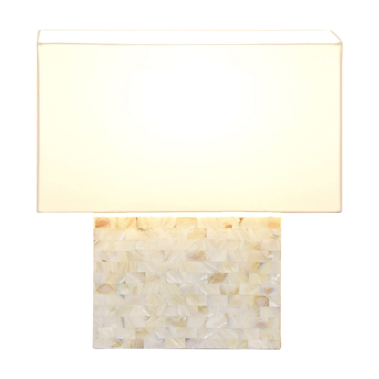 CB2 CB2 Shell Table Lamp nj