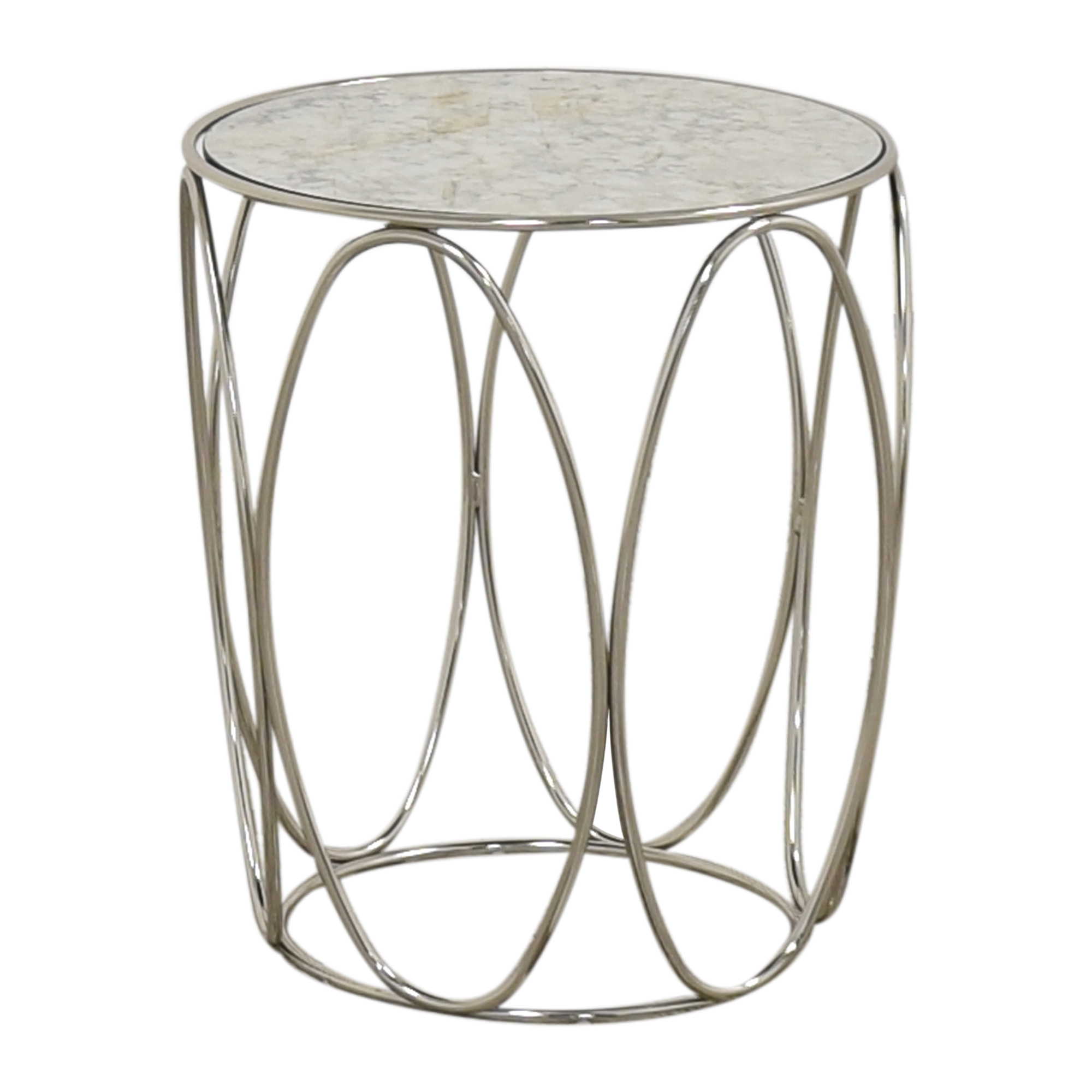 buy Crate & Barrel Modern Round End Table Crate & Barrel Tables