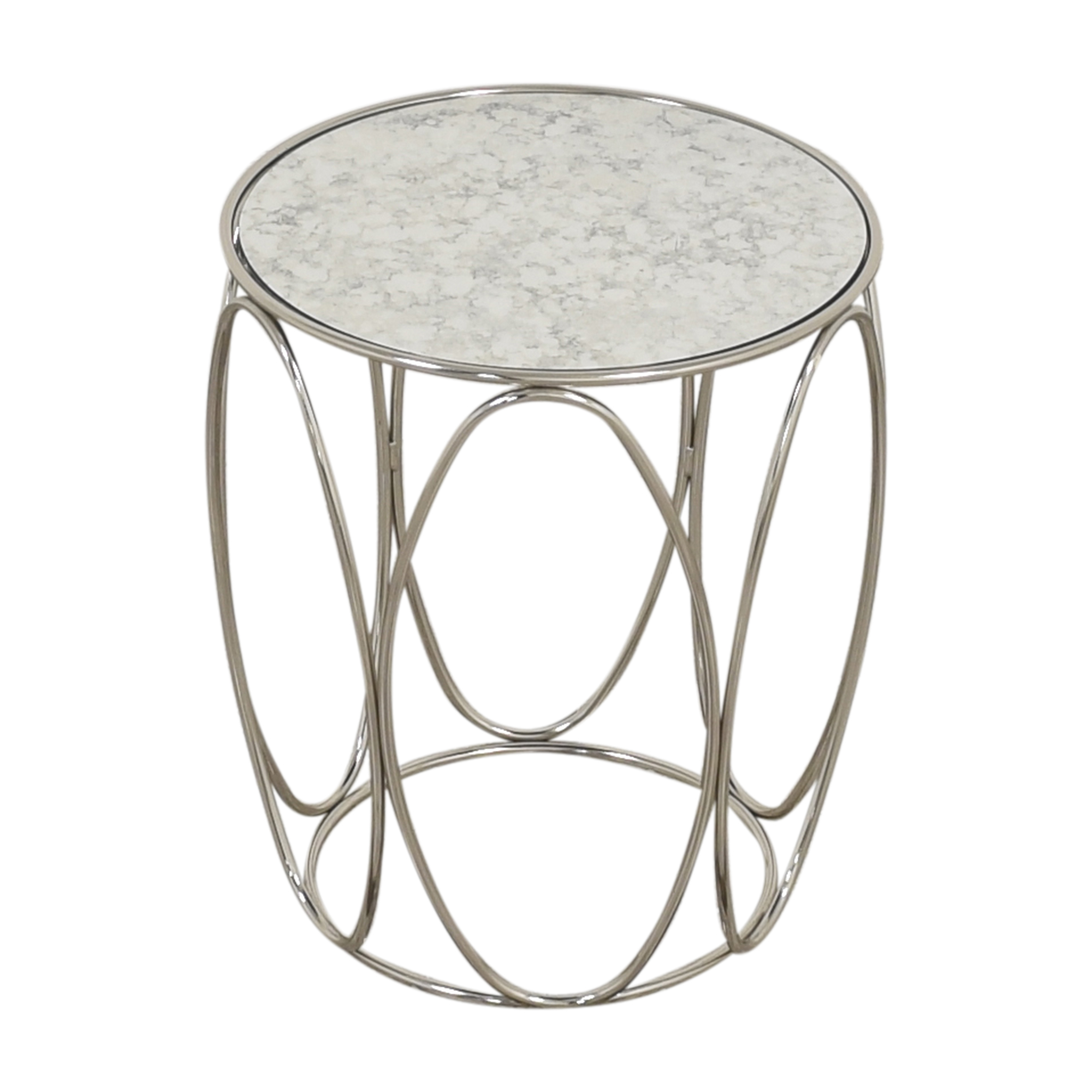 buy Crate & Barrel Modern Round End Table Crate & Barrel