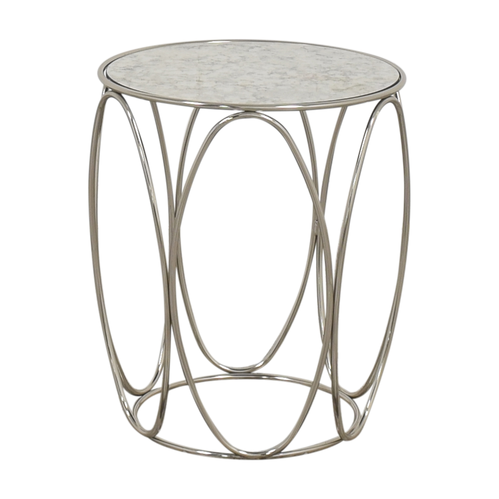 Crate & Barrel Crate & Barrel Modern Round End Table discount