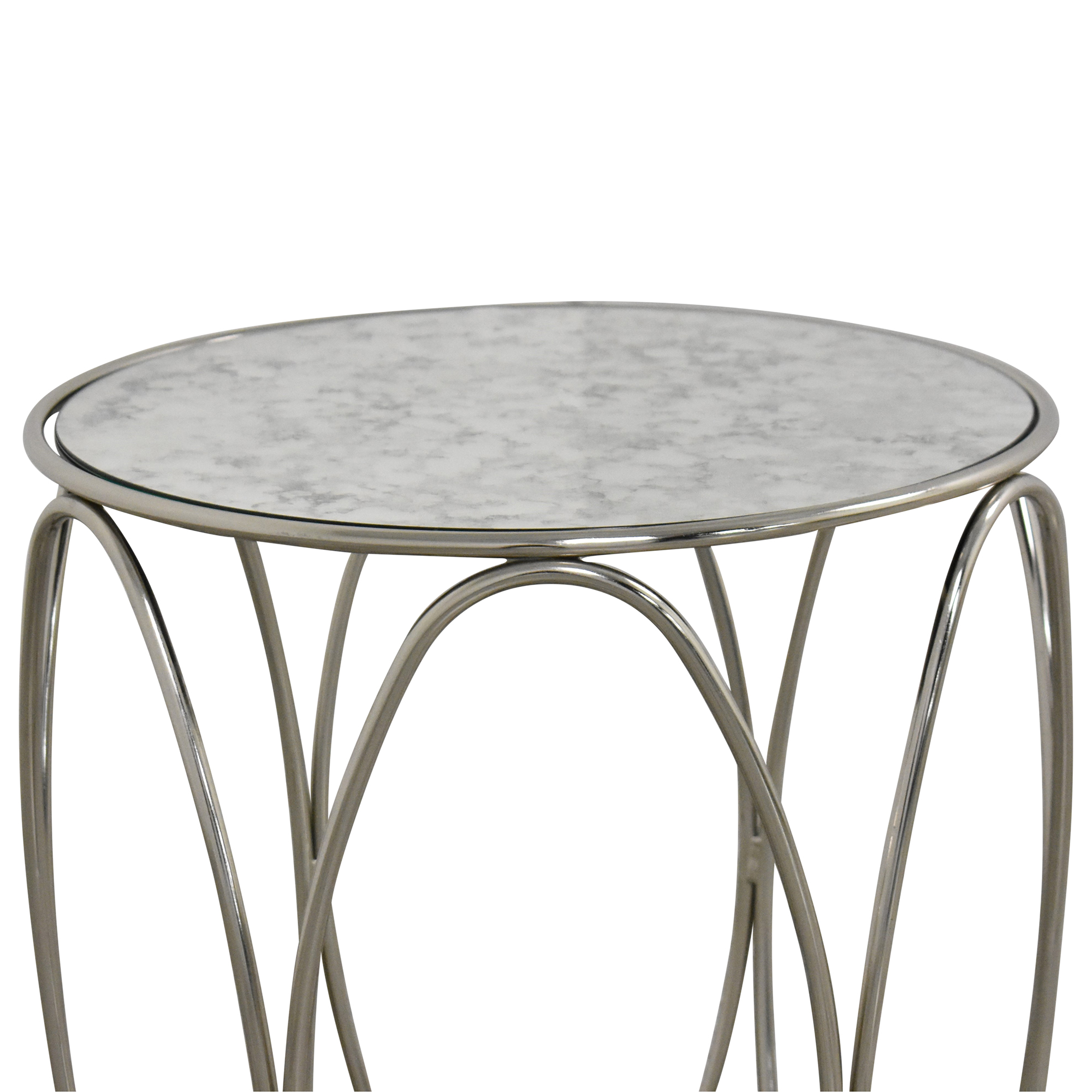 Crate & Barrel Crate & Barrel Modern Round End Table on sale