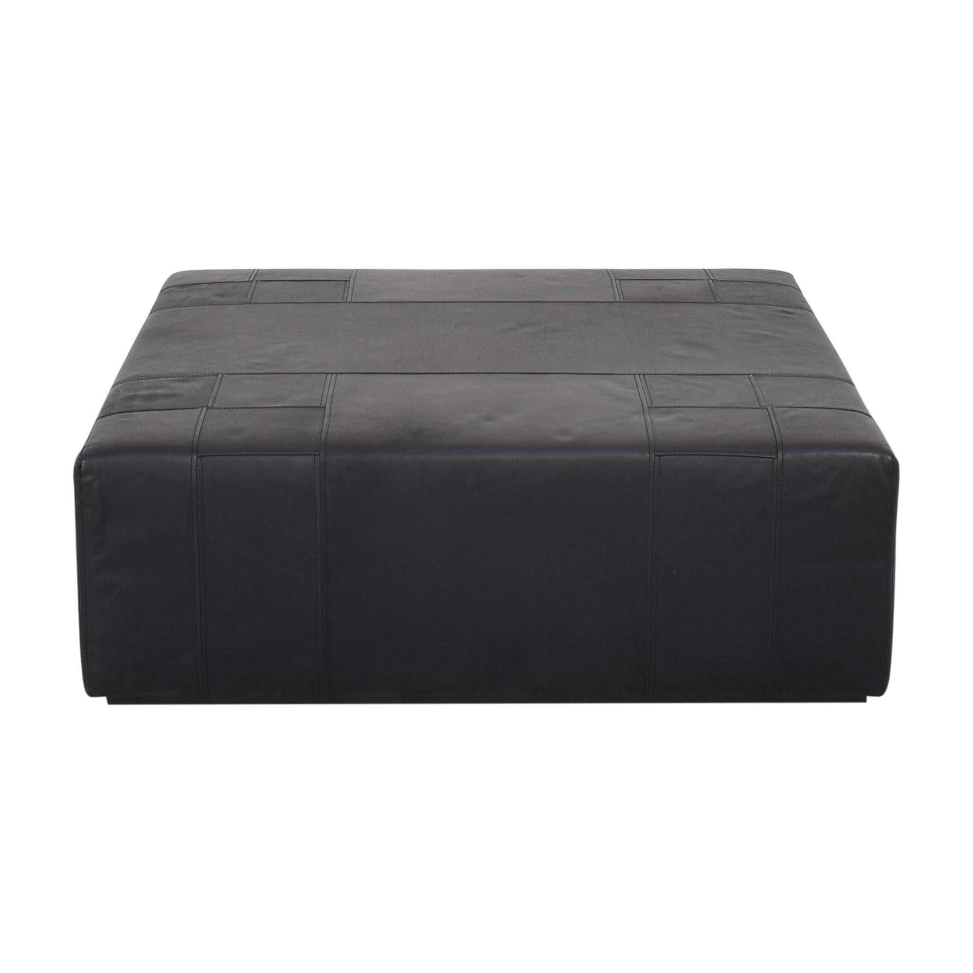 ABC Carpet & Home ABC Carpet & Home Square Ottoman black