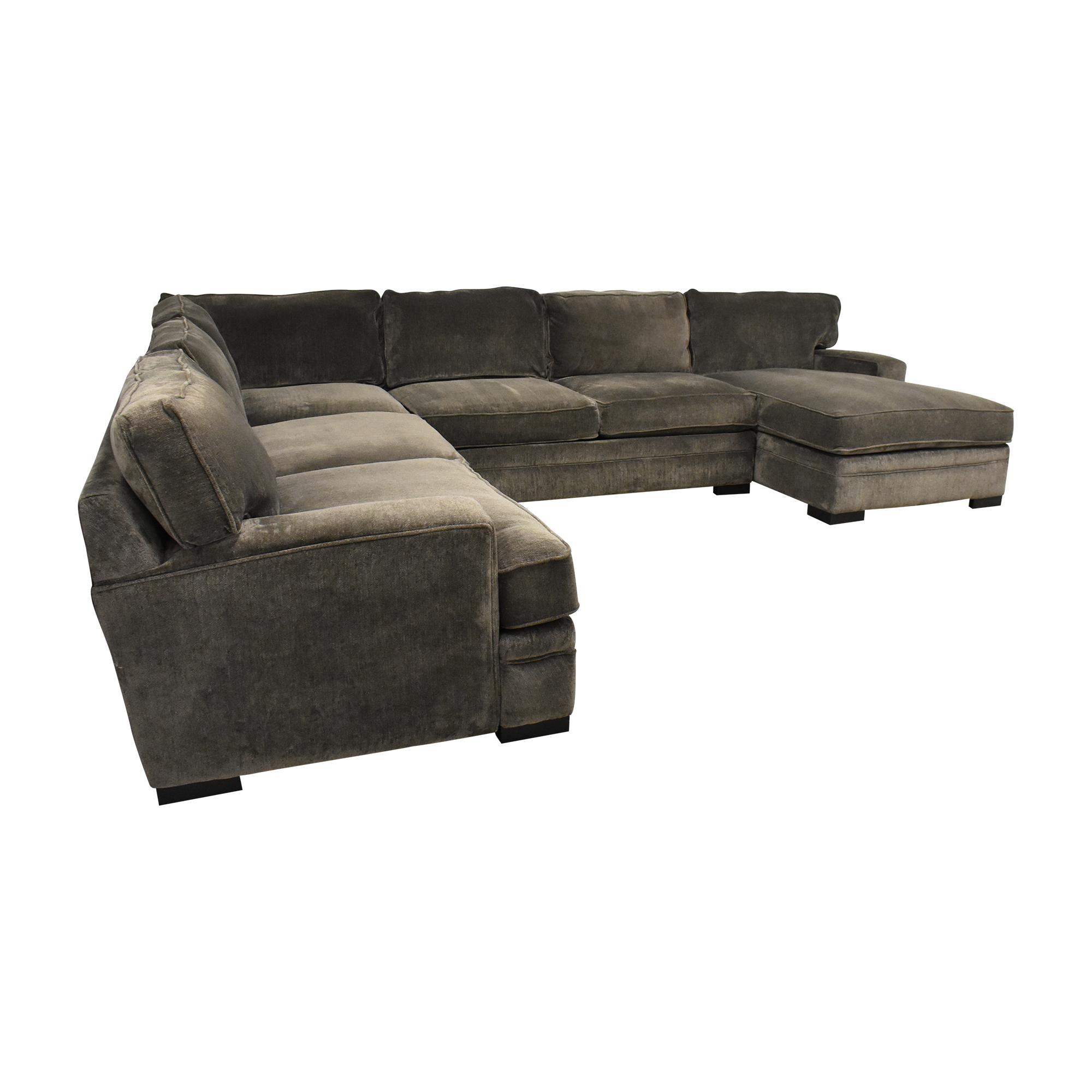 Macy's Macy's Corner Chaise Sectional Sofa dimensions
