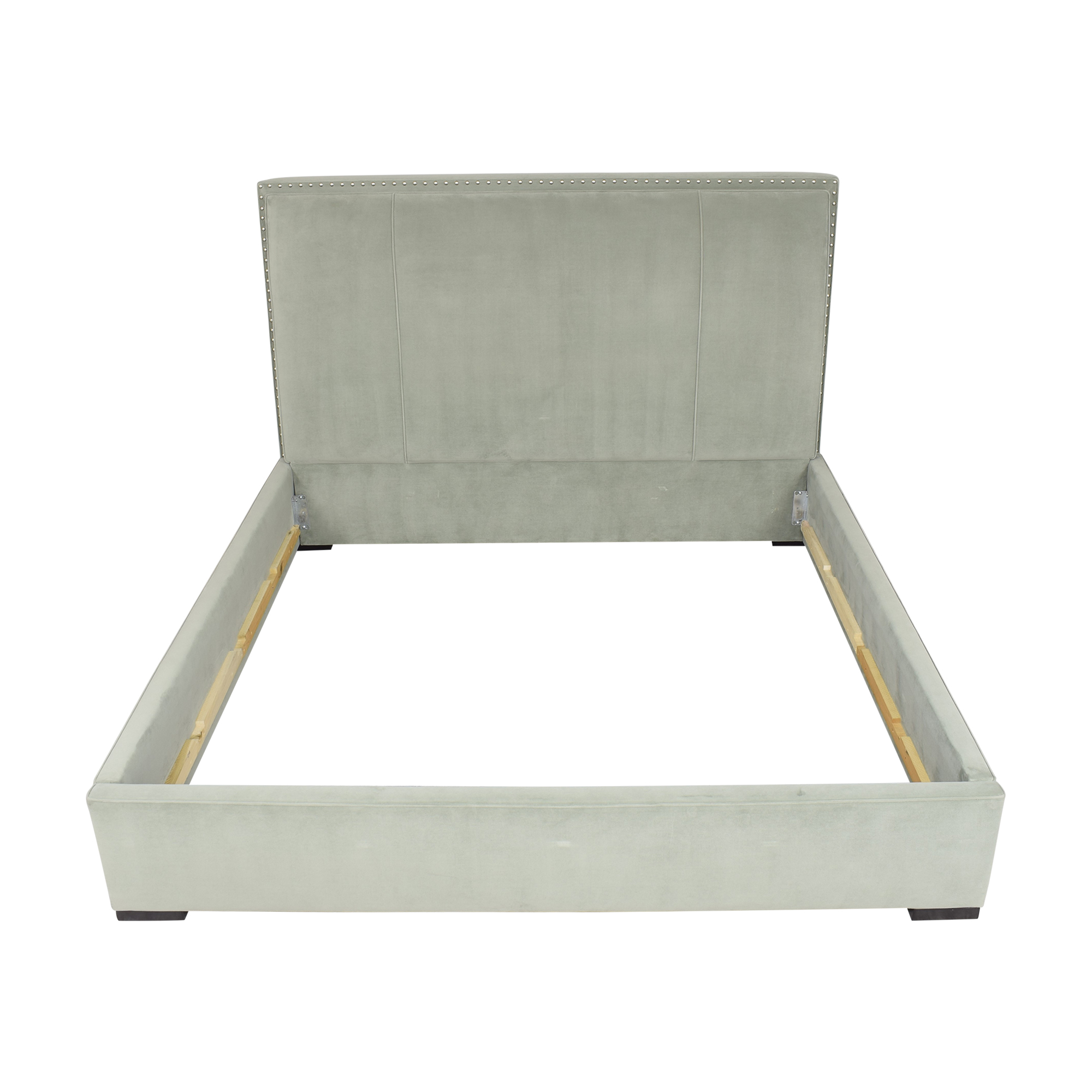 Macy's Macy's Nailhead Trim Upholstered King Bed second hand