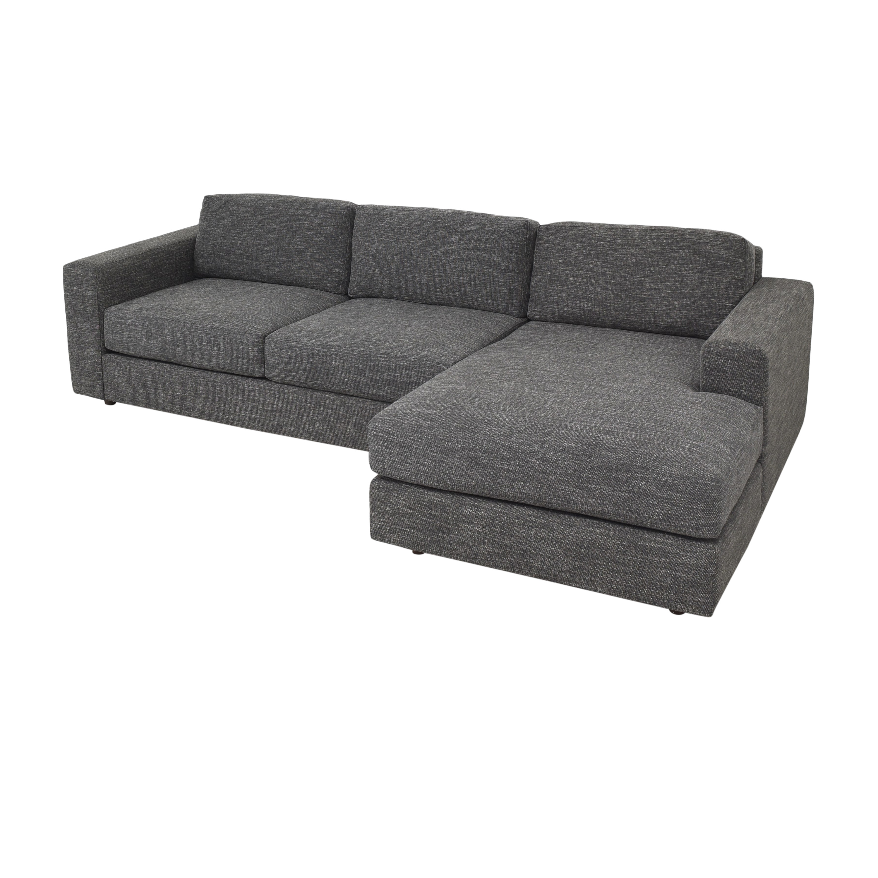 West Elm West Elm Urban Two Piece Chaise Sectional Sofa  second hand
